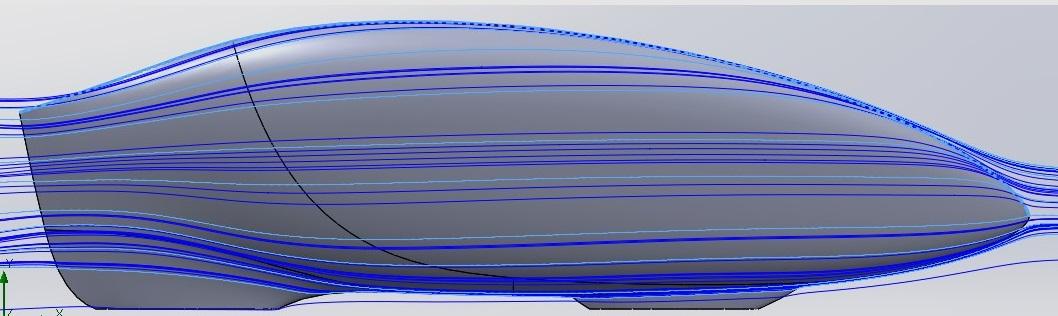Streamlines over the final shape of Eta.