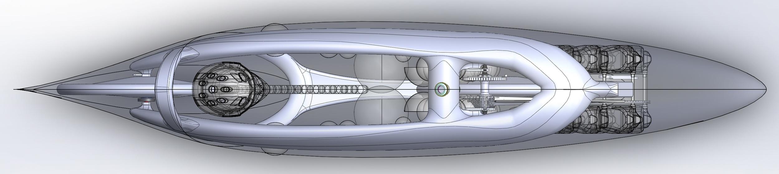 Top view of the final shape of Eta.