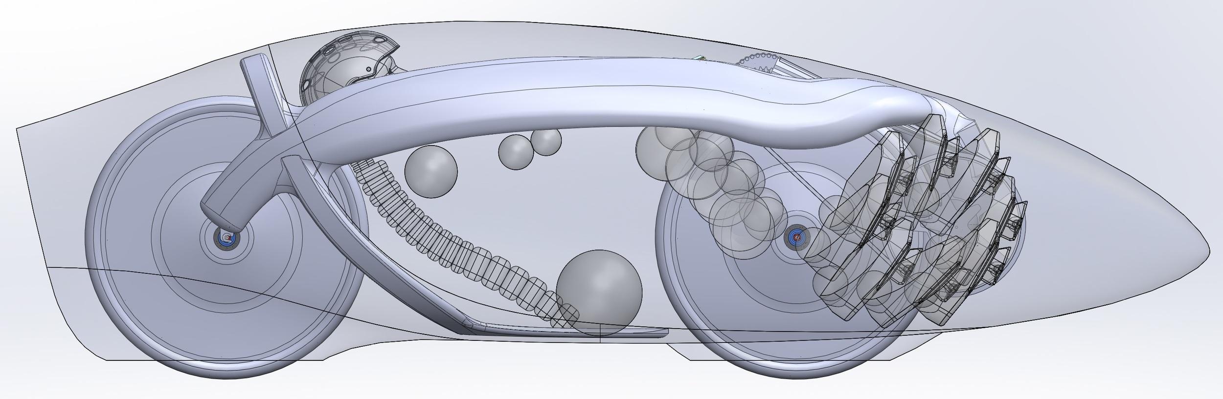 Side view of the final shape of Eta.