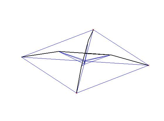 Initial Atlas tent structure made with a triangulated single beam.
