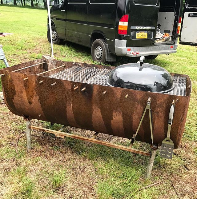 Just modified this BBQ to feed 100 friends this weekend! Can't Wait!
