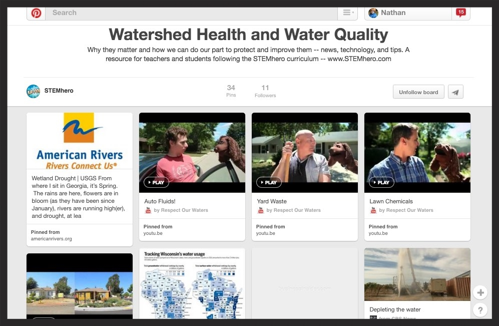 Watershed health and water quality: tips and  non-fiction sources  (curated for students)