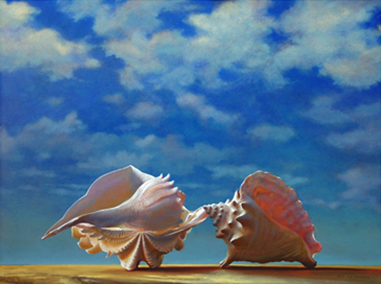 "Sheltrio  30"" x 40"" 2005, oil on linen"