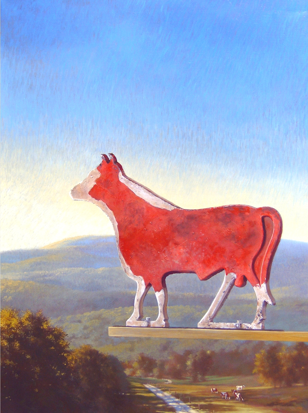 "Bull Above  40"" x 30"" 2009, oil on linen"