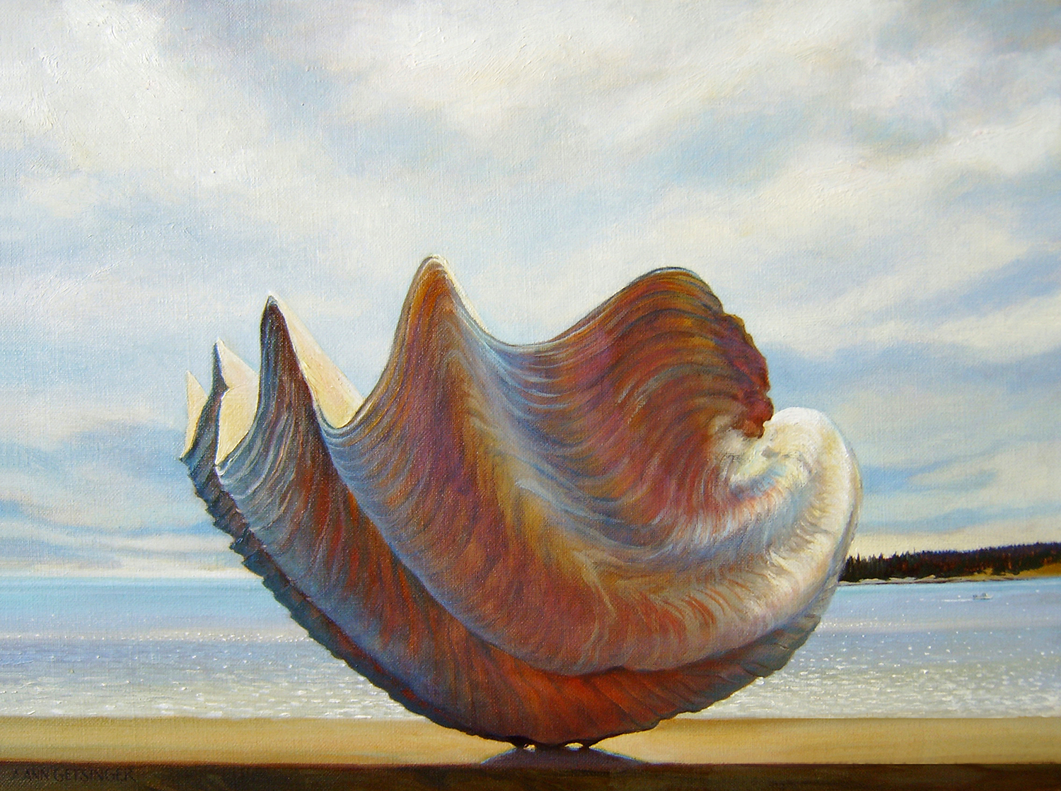 "Giant Clam, Ocean 18"" x 24"" 2006, oil on linen"