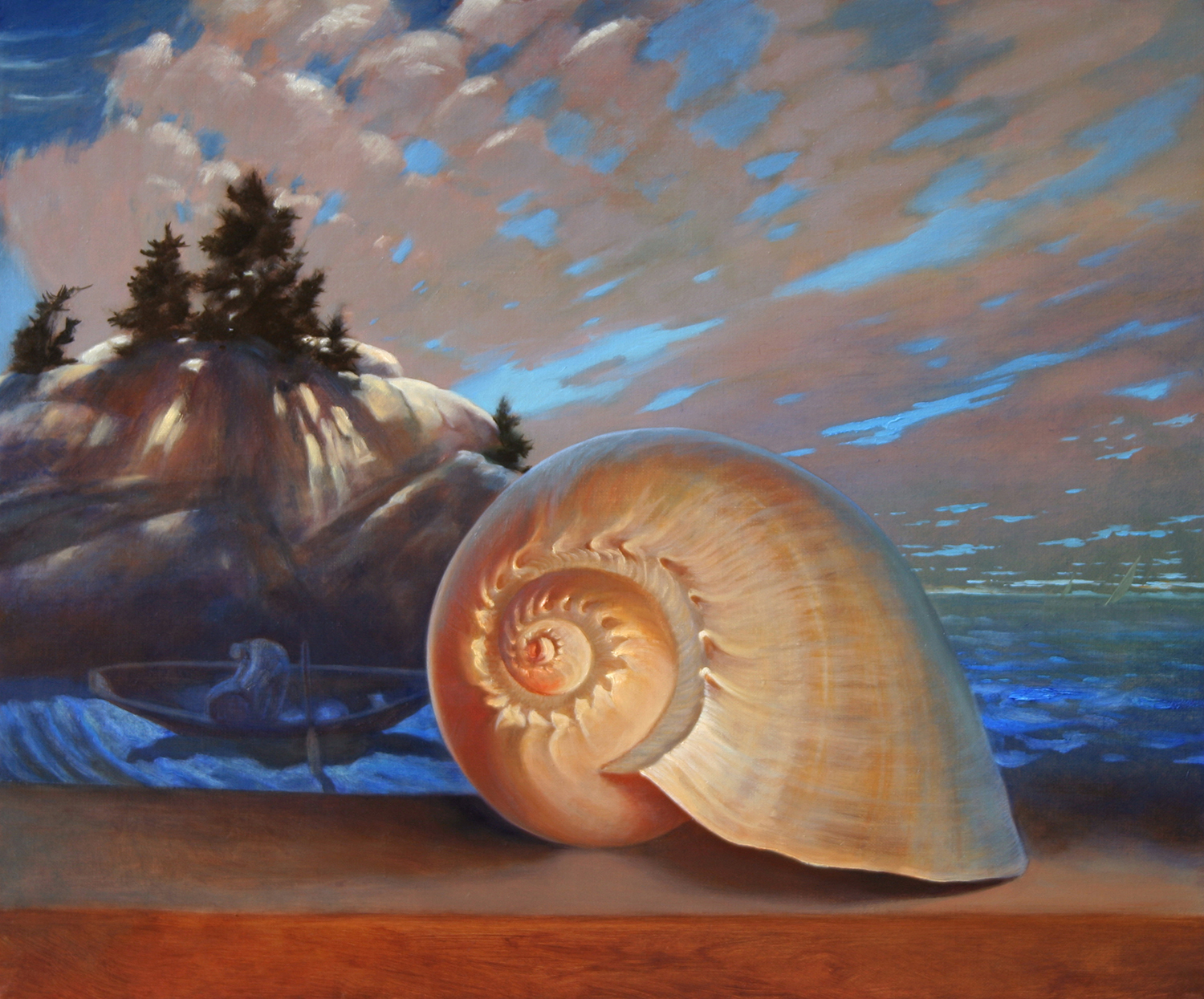 "N.C.W. and Shell 18"" x 24"" 2006, oil on linen"
