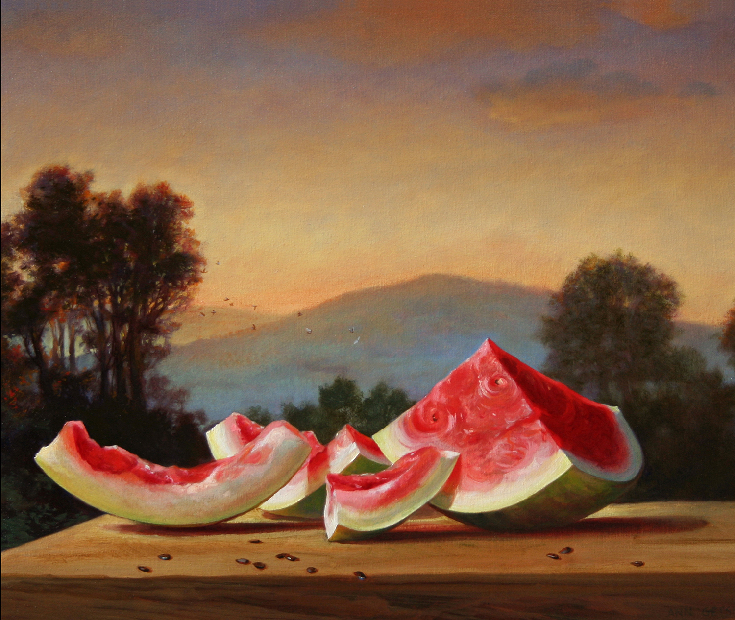 "Mona Lisa Melon 16"" x 20"" 2006, oil on linen"
