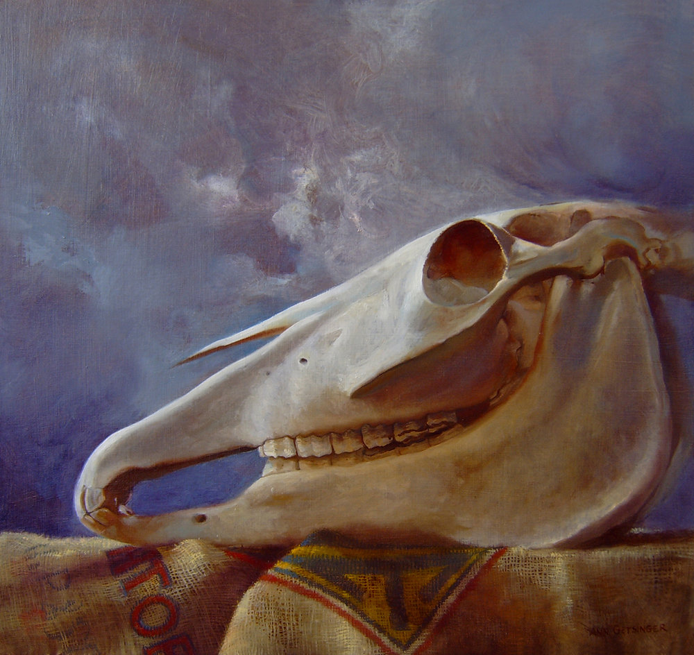 "Was Horse 24"" x 26"" 2010, oil on rag panel"