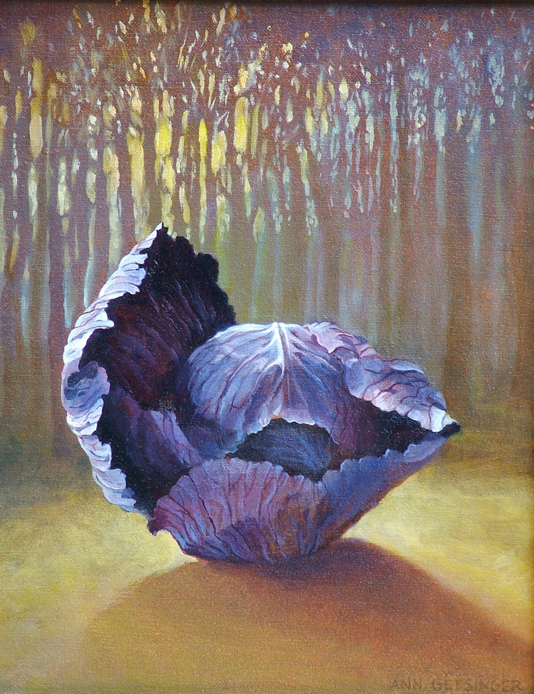 "Death Day Cabbage   14"" x 11"" 2005, oil on linen"