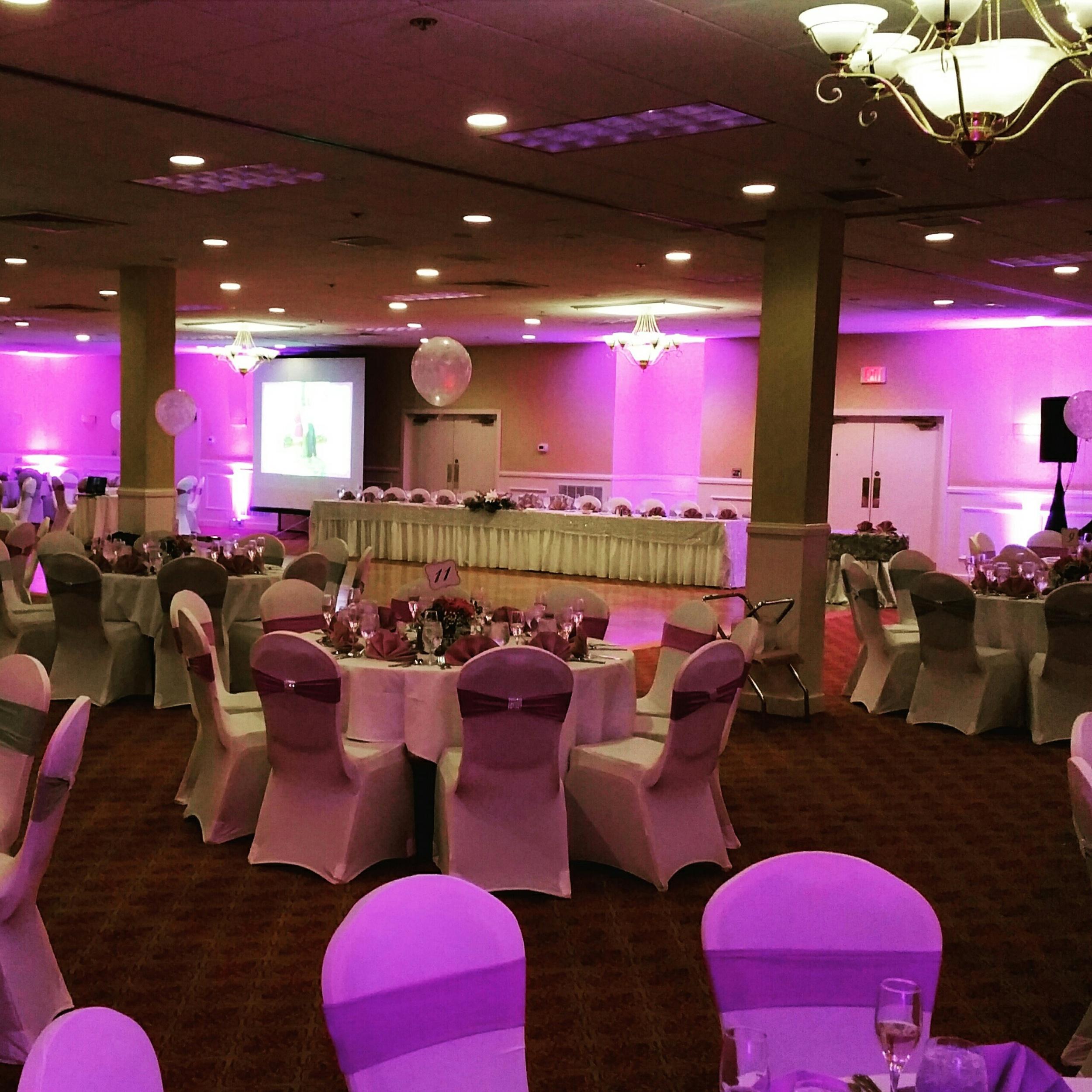 Wakwe Wedding Reception w/purple lighting