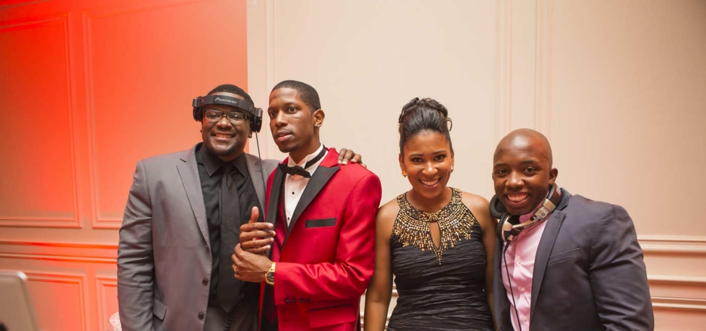 Dj Backspin & Dj iET w/the groom & wedding planner