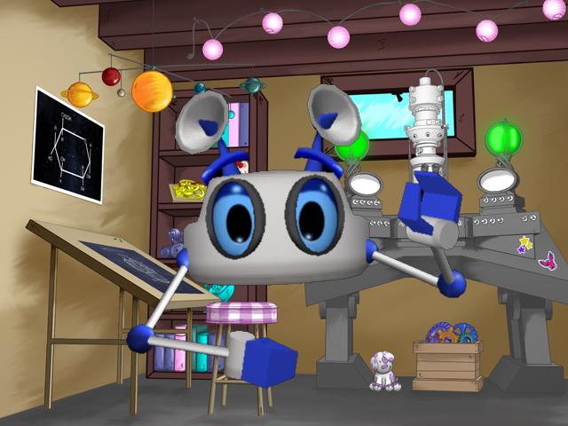 Deci- Mia's faithful robot assistant