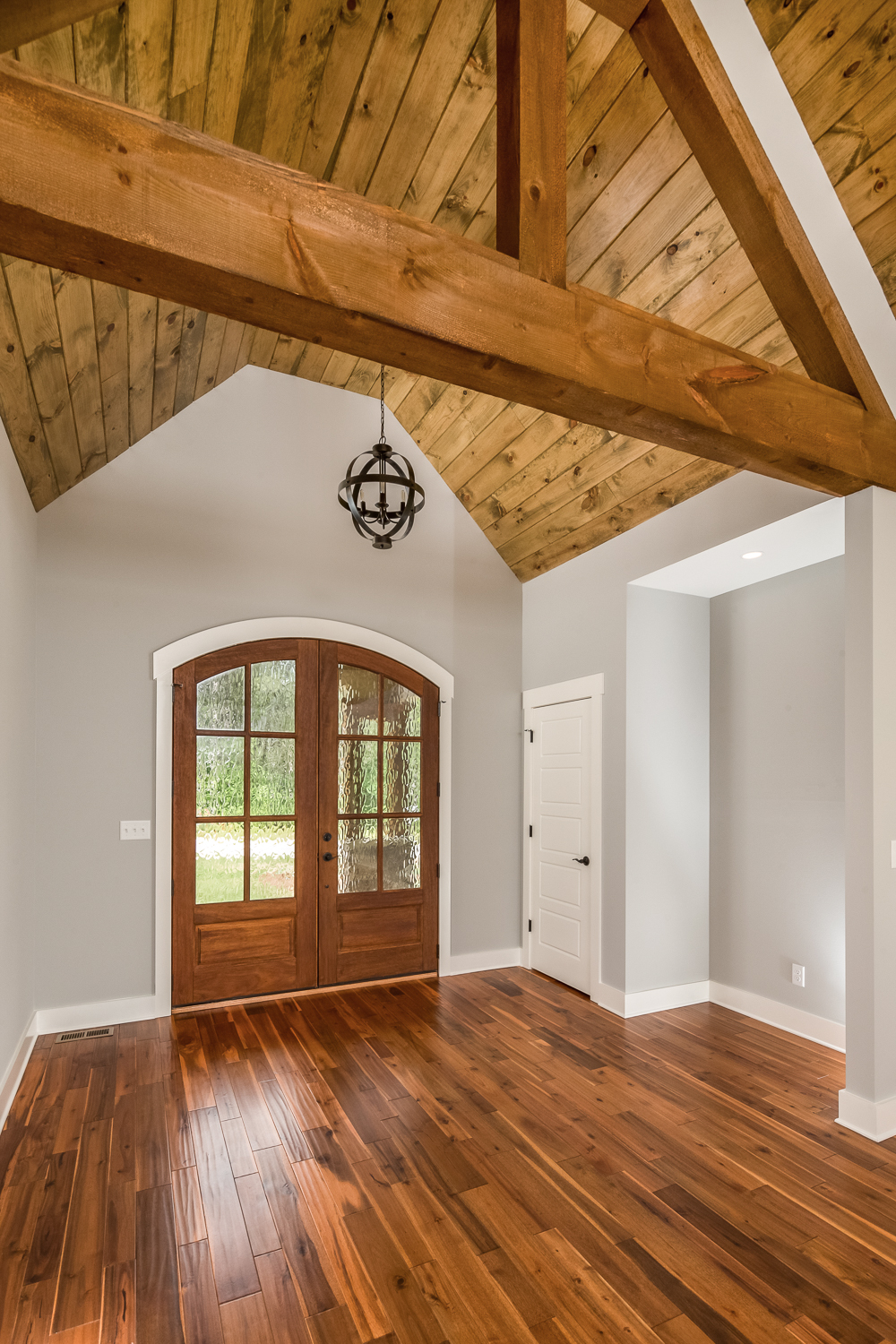 foyer-with-wood-beams