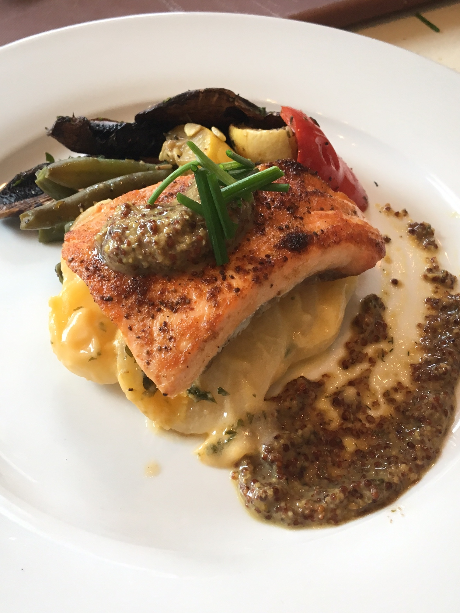 Salmon Filet with Honey and Whole Grain Mustard