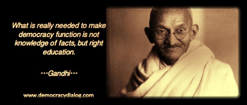 Gandhi-education