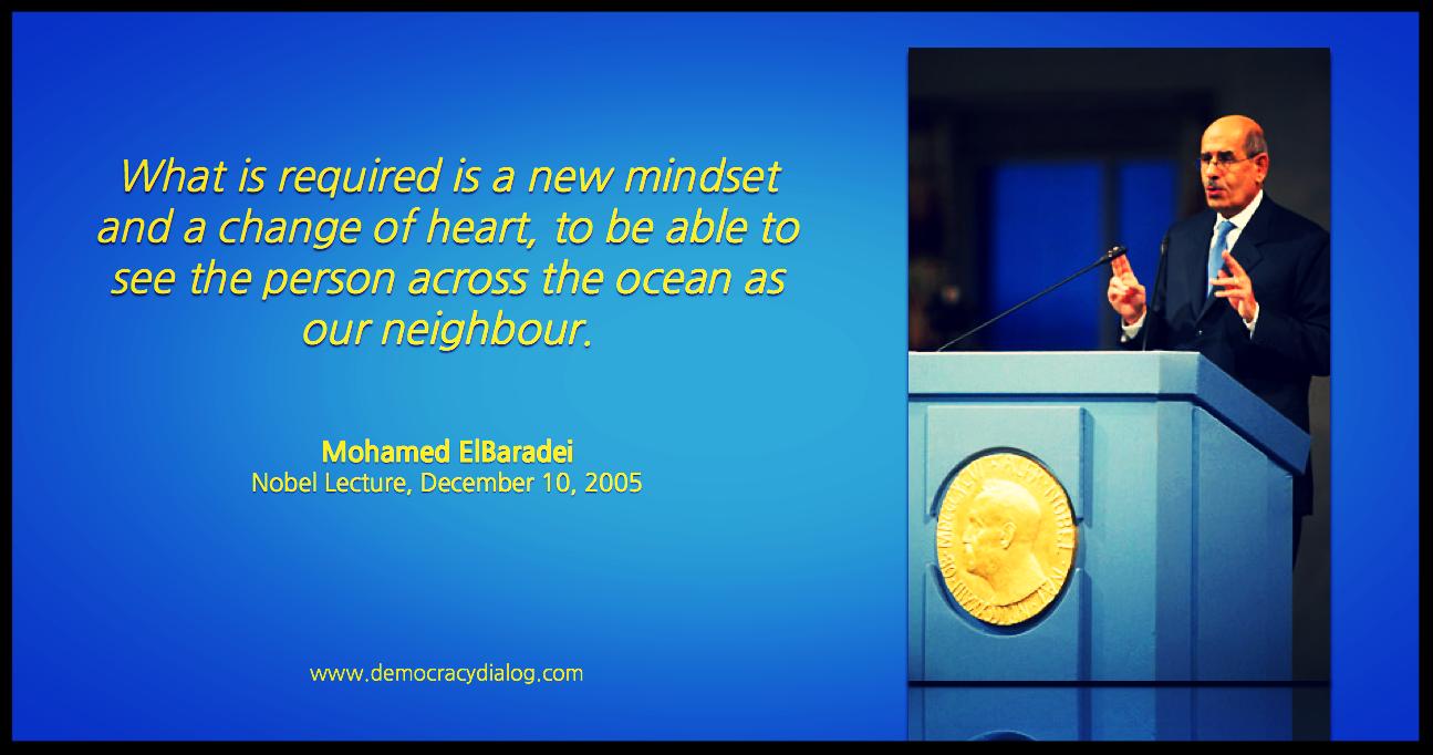 Mohamed ElBaradei-mindset