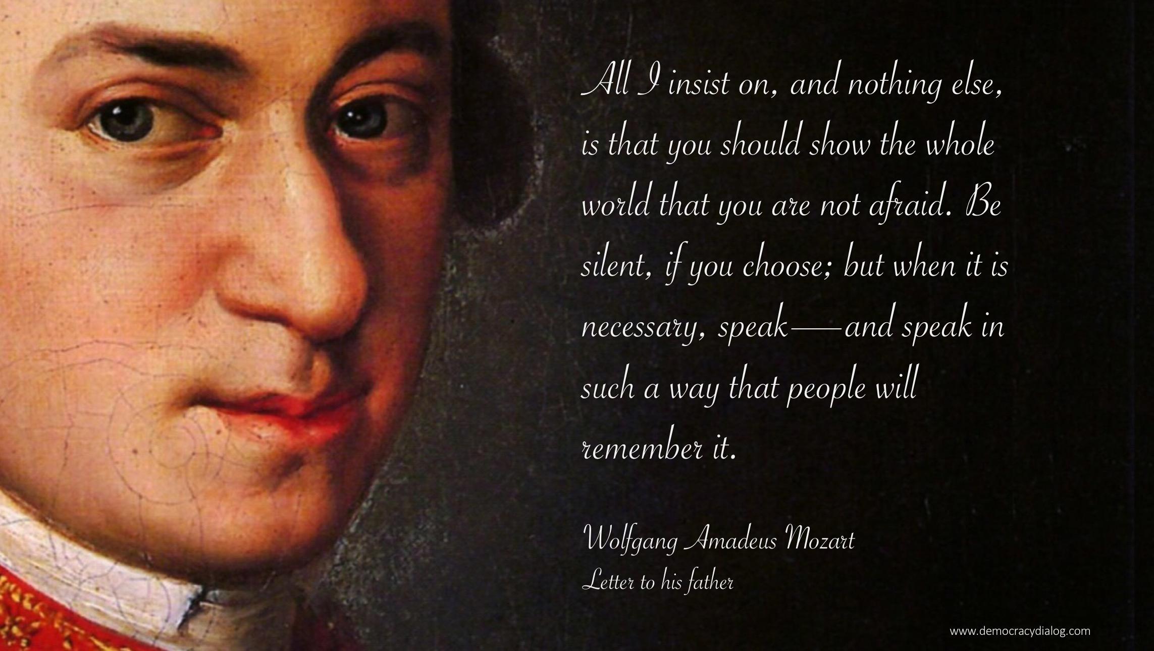 Mozart-be not afraid