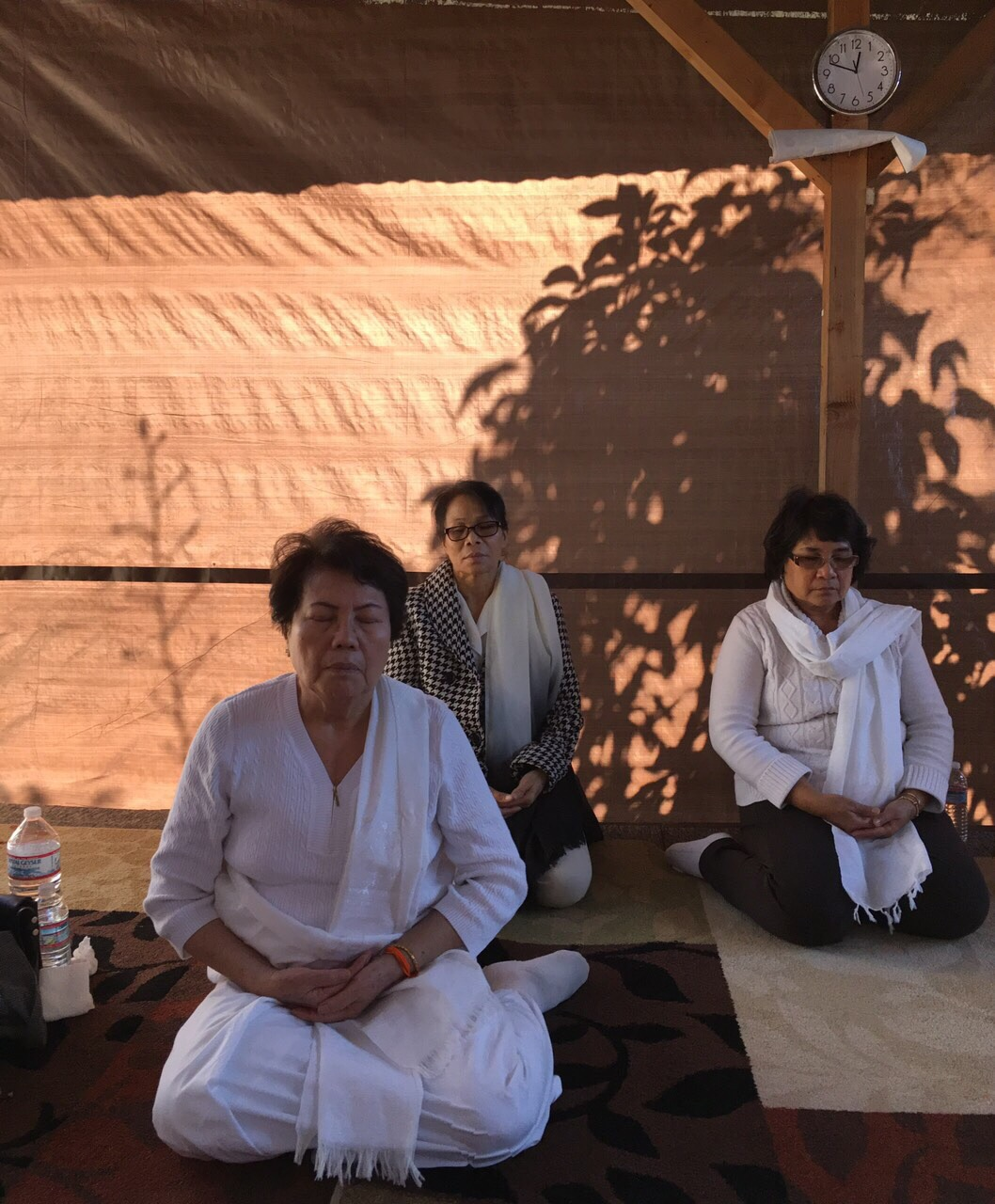 Buddhist from ventura come to retreat at monastery.