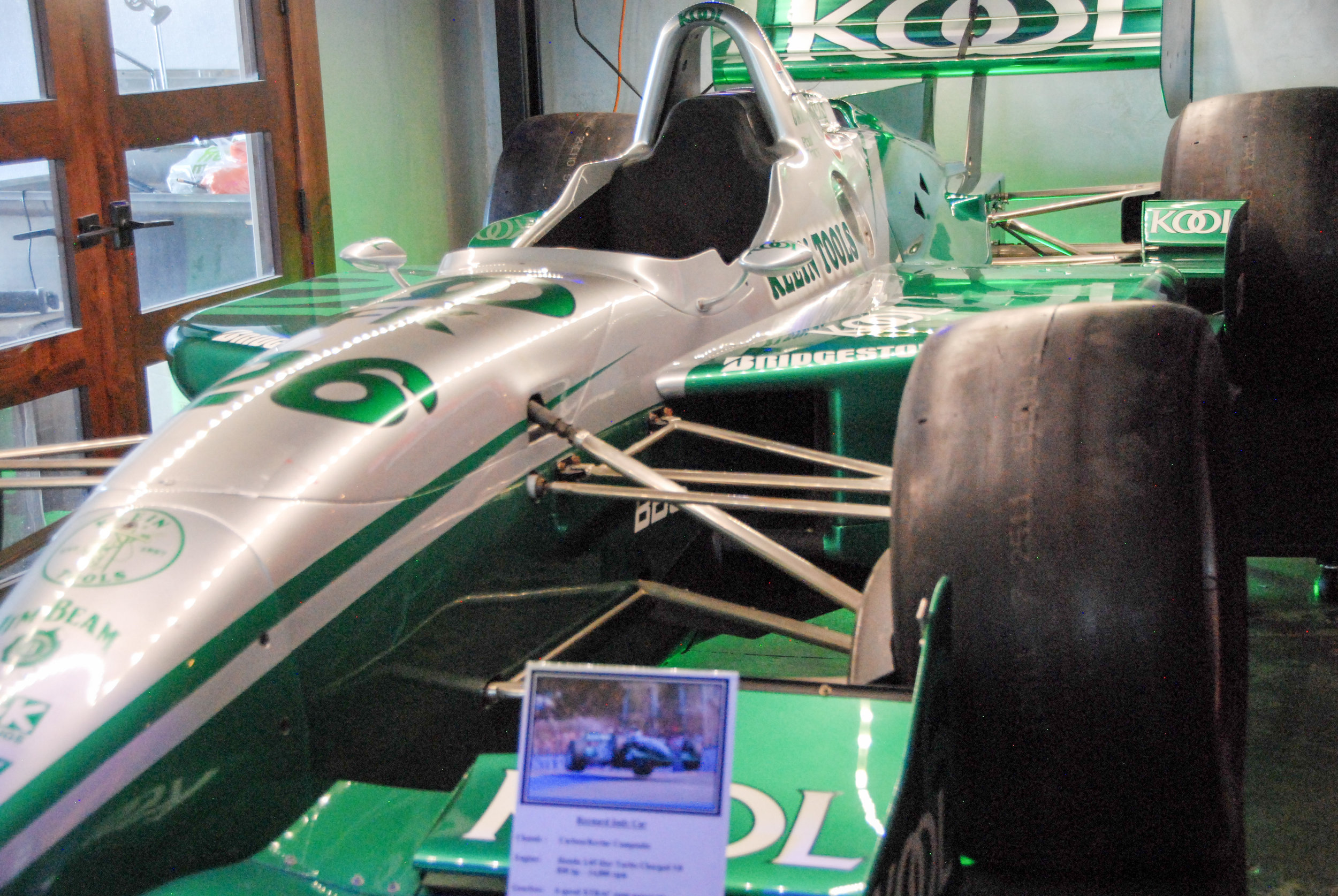 Paul Tracy's Indy Car at the Garage Grill