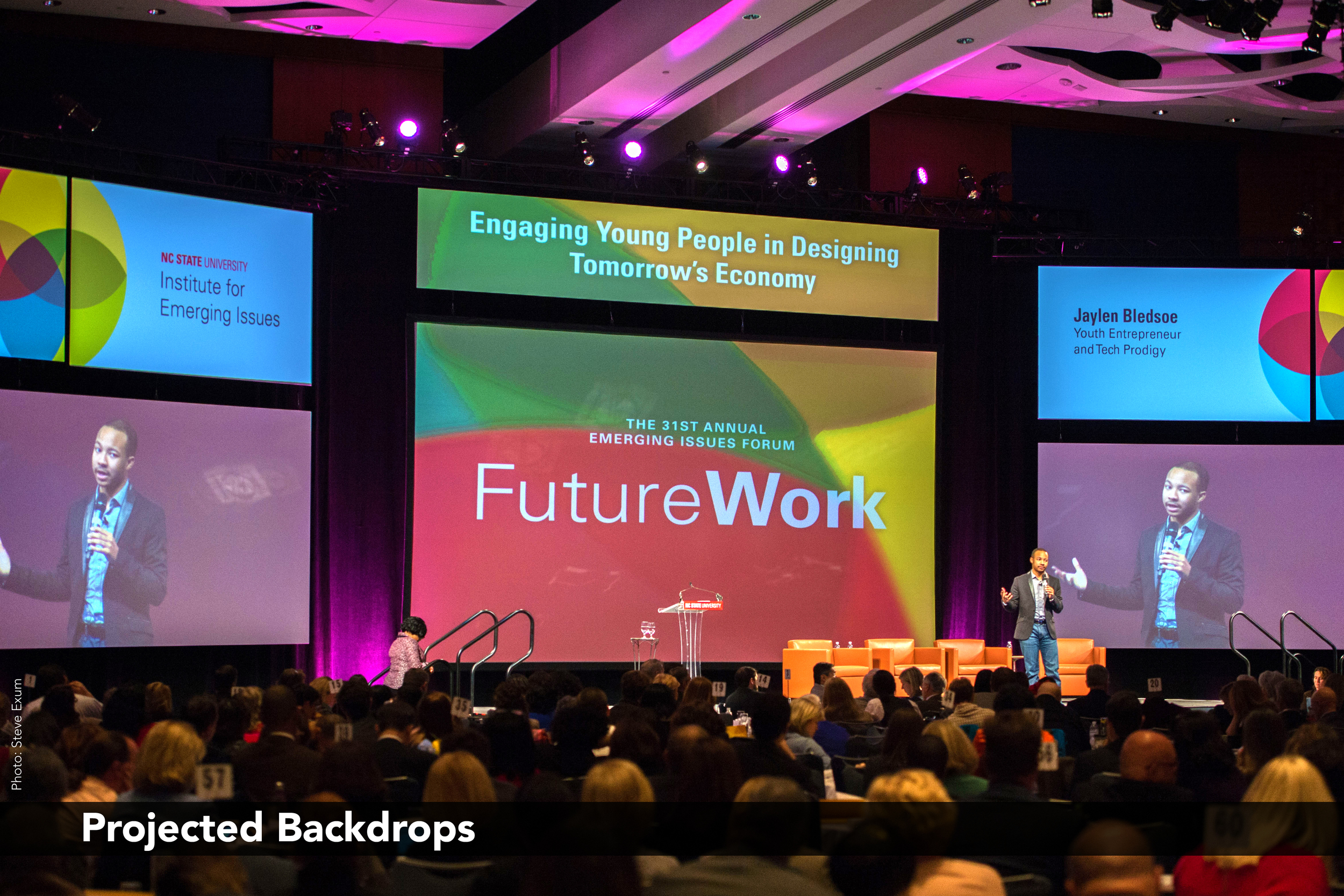 FutureWork: Projected Backdrops