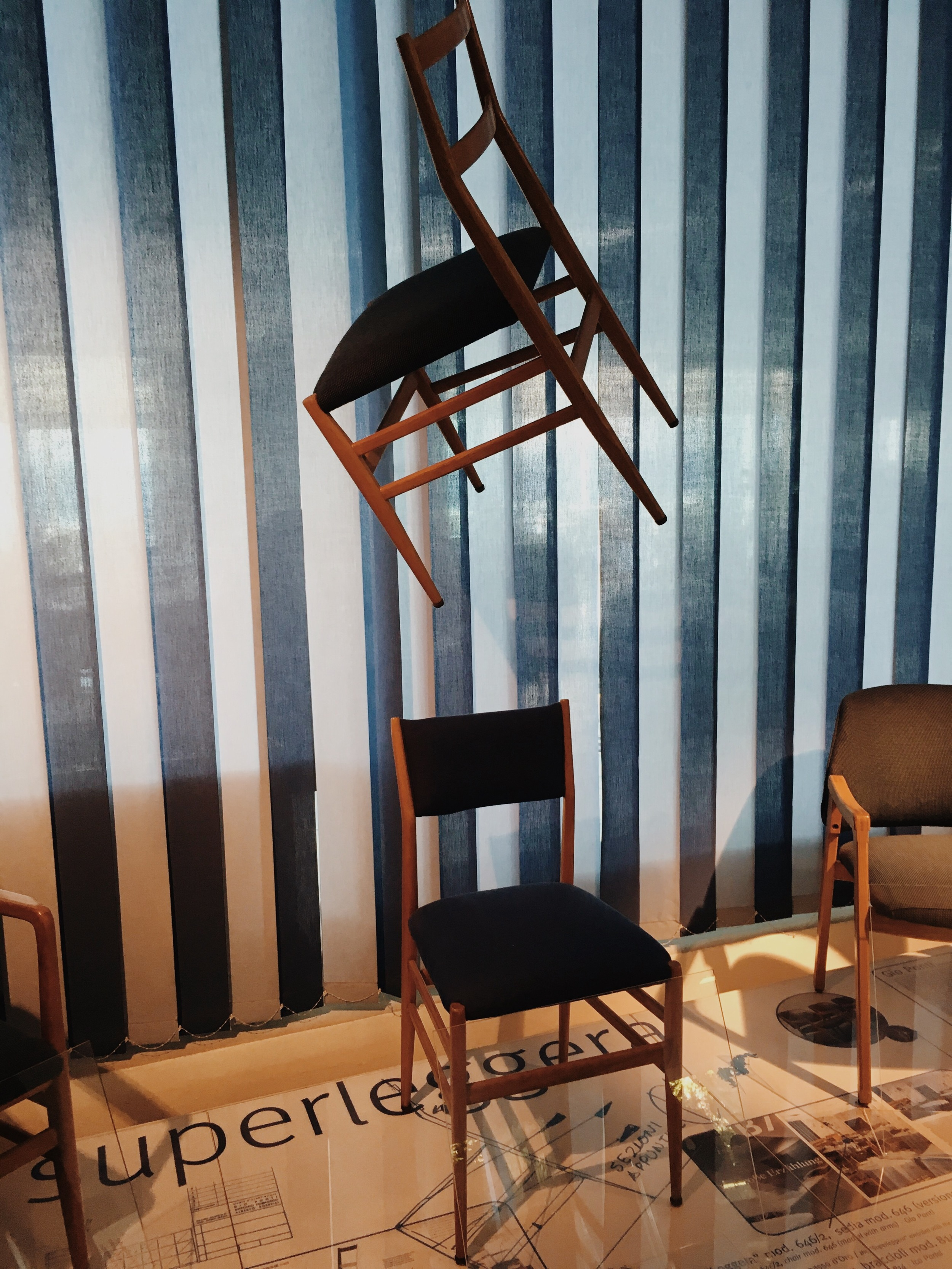 Many of Ponti's furniture designs were used in the hotel including the celebrated Superleggera chair.