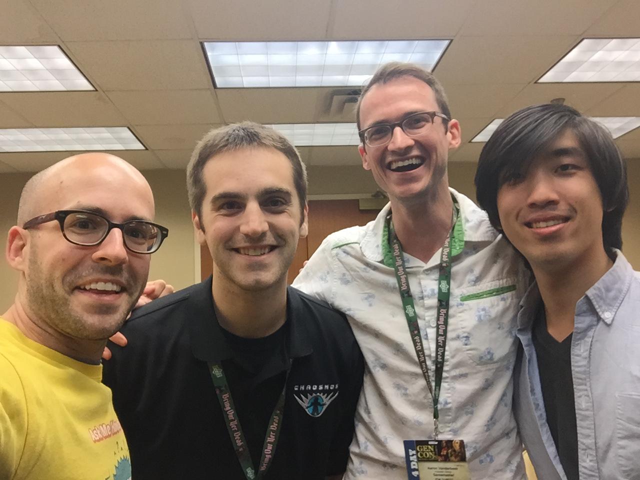 Design friends! Left to right: Andrew Federspiel (me), Matthew Austin, Aaron Vanderbeek, Kevin Chang