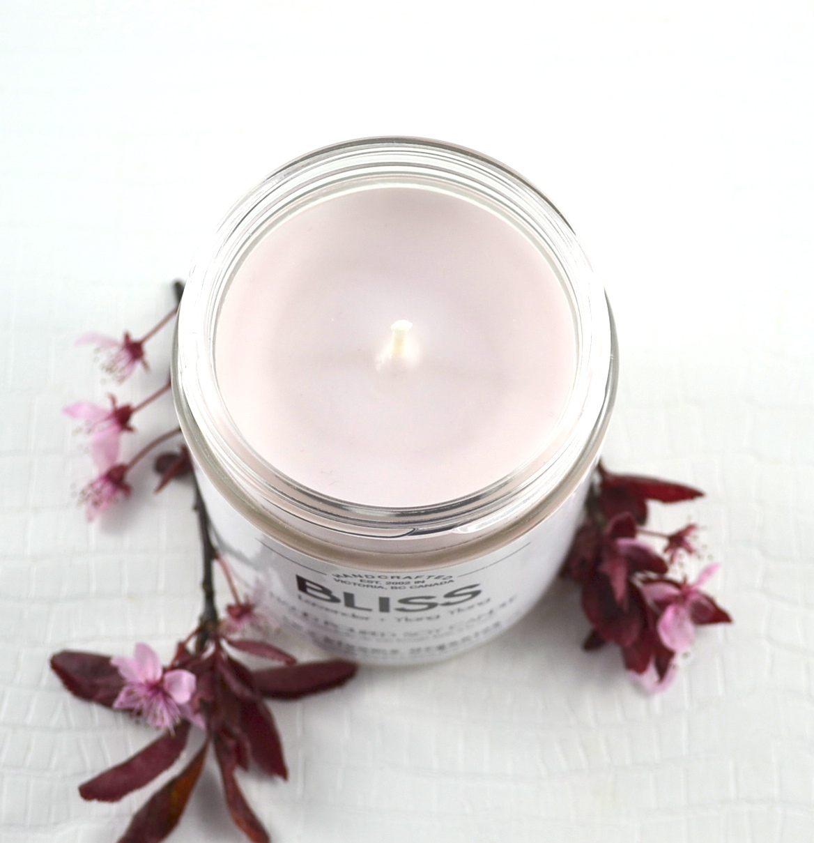 Two Blooms Bliss Soy Candle  Photo Credit:  Michelle Somers