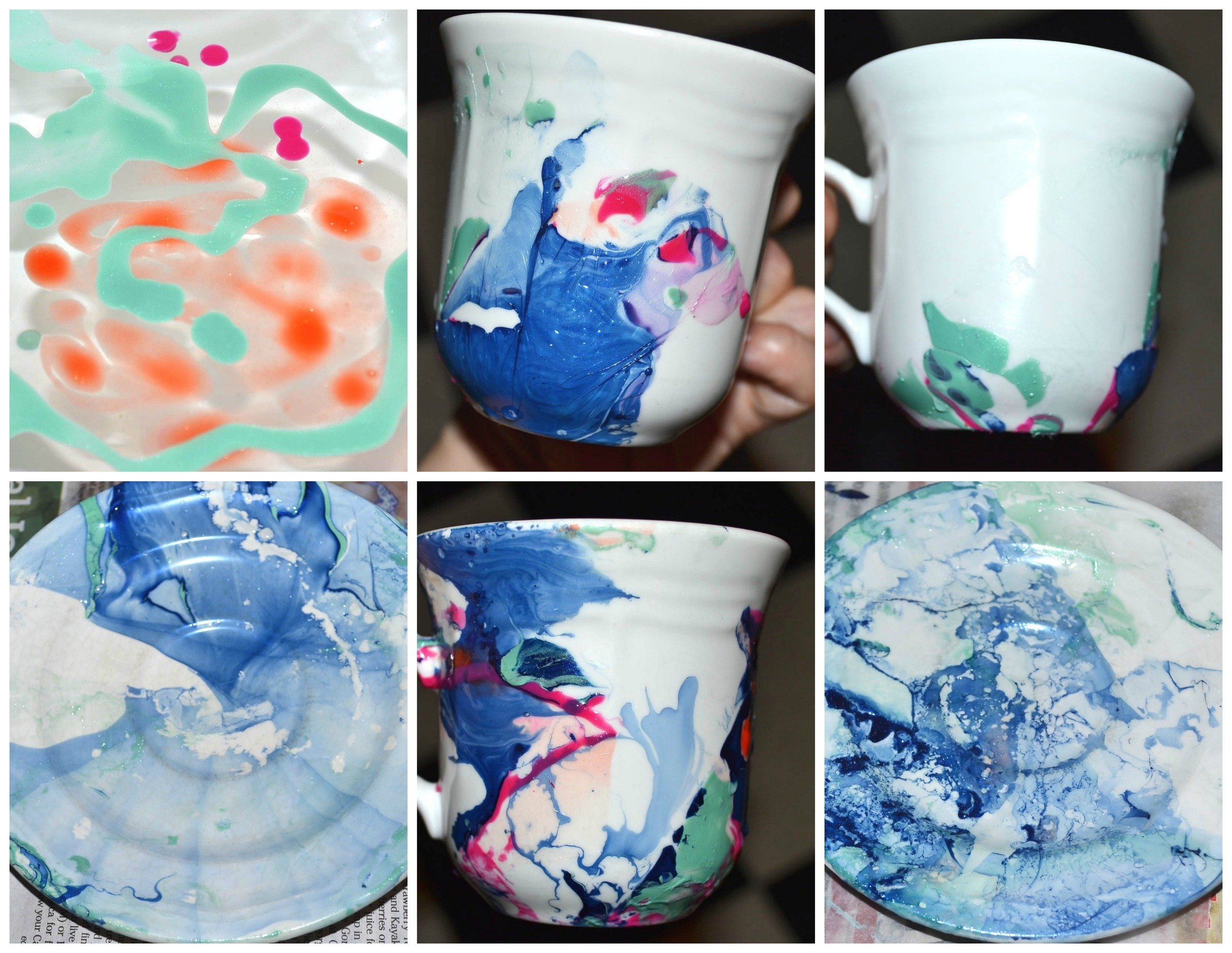 Various Mug and Saucer Designs Photo Credit: Michelle Somers