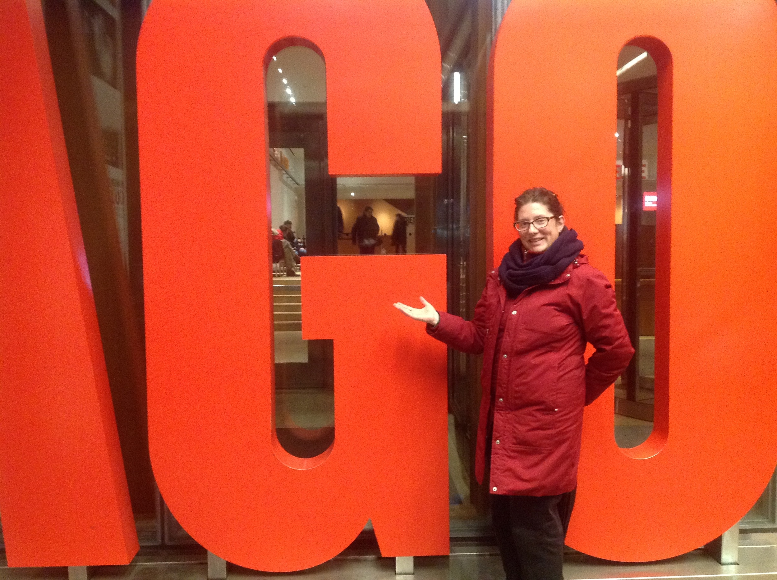 Me in front of the AGO.