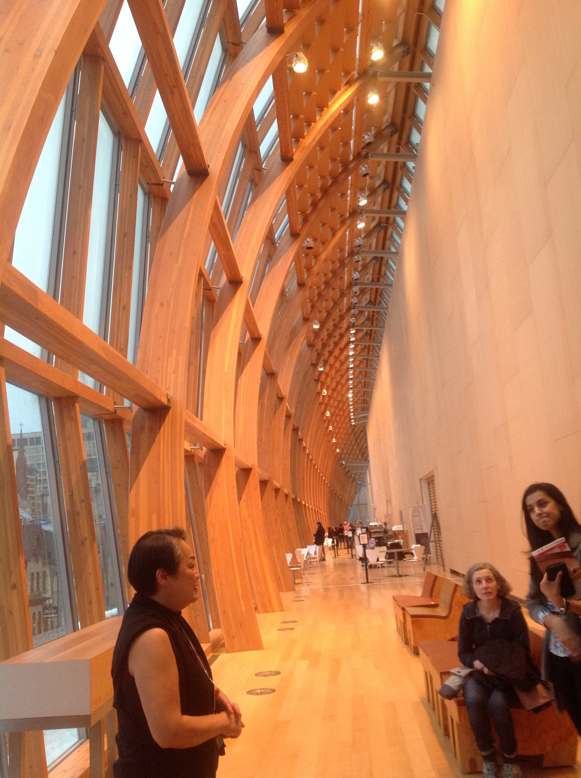 Galleria Italia at the AGO and our tour guide.