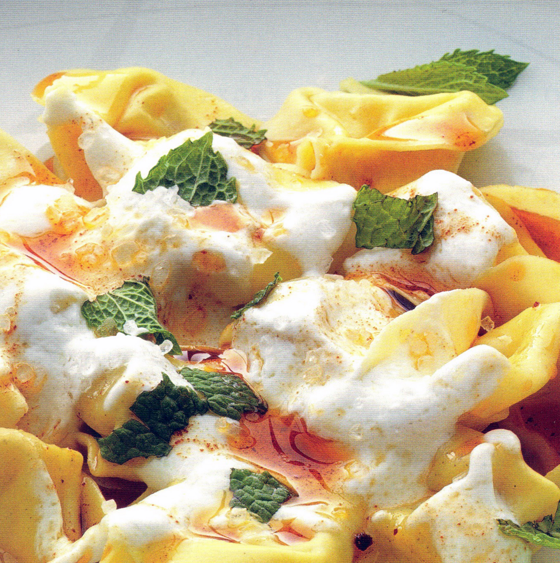 Tortellini with Yogurt, Mint and Smoked Paprika Oil