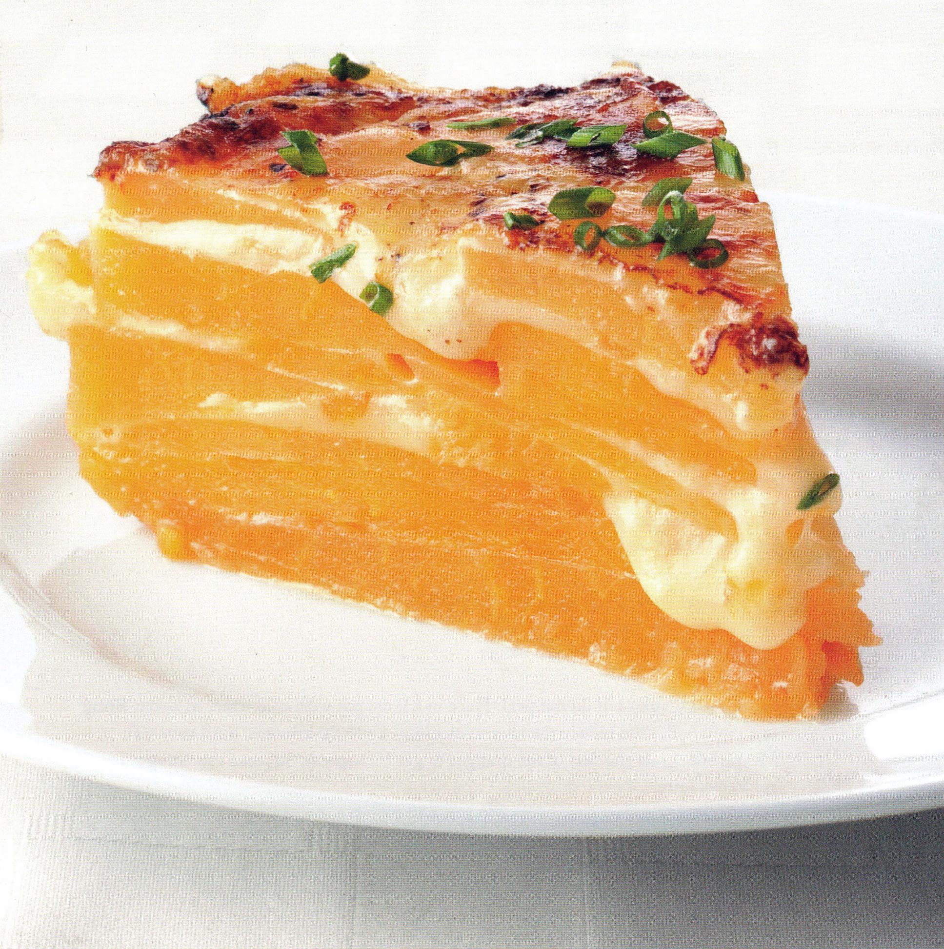Rutabaga, Crème Fraîche & Havarti Torte