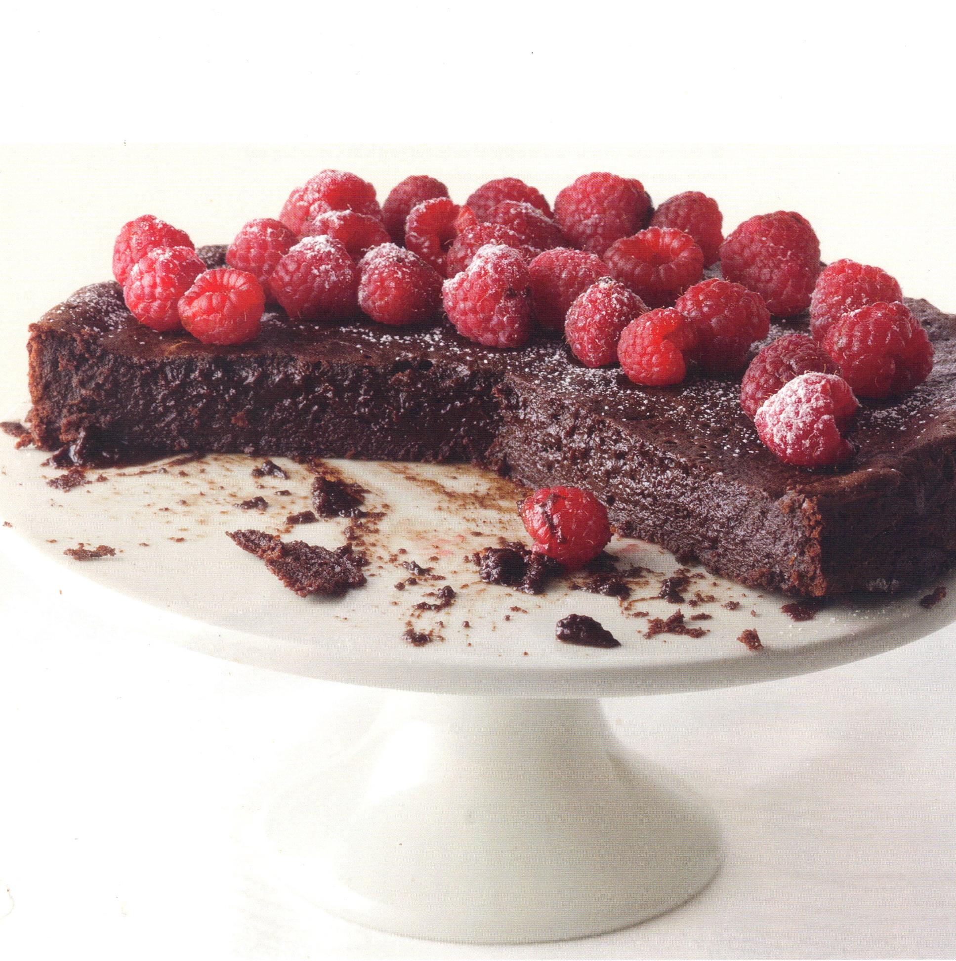 "The ""Little Black Dress"" Chocolate Cake"