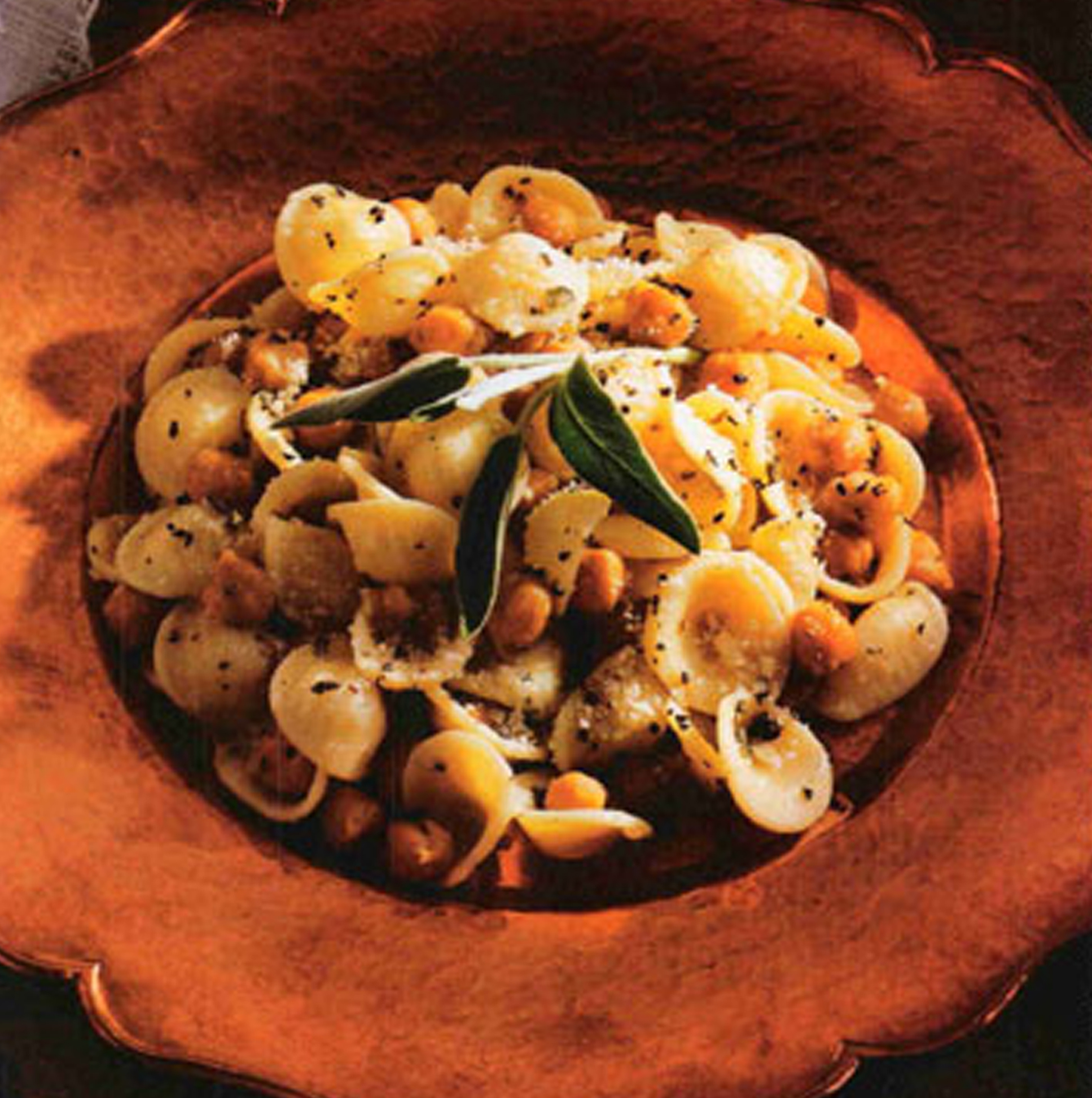 Orecchiette with Fried Chickpeas & Black Pepper