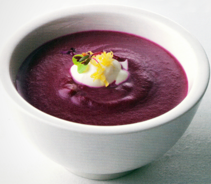 Featured Recipe: Beet Soup with Lemon Crème fraîche