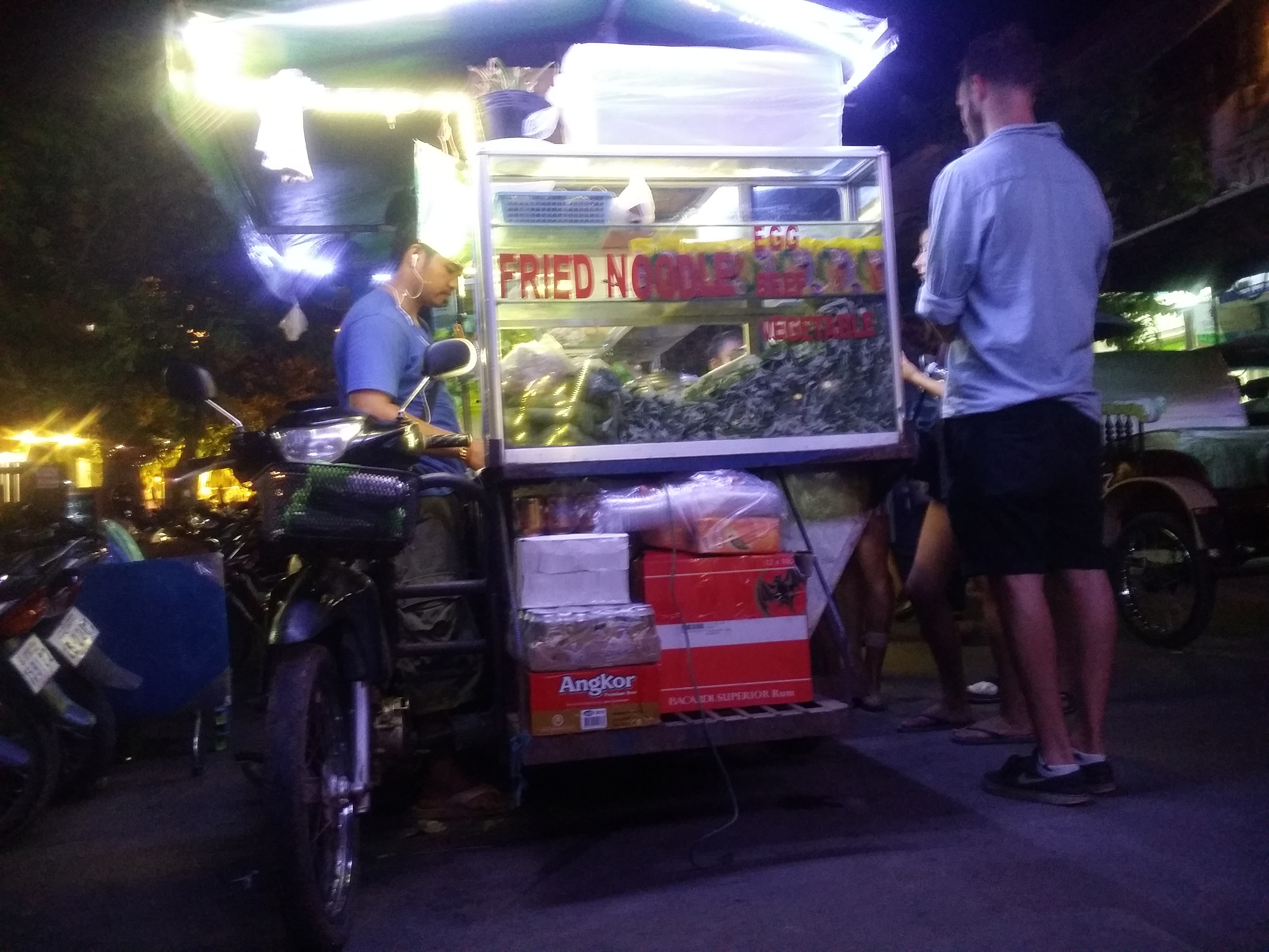 Common sight of food carts that are all across Cambodia and Southeast Asia
