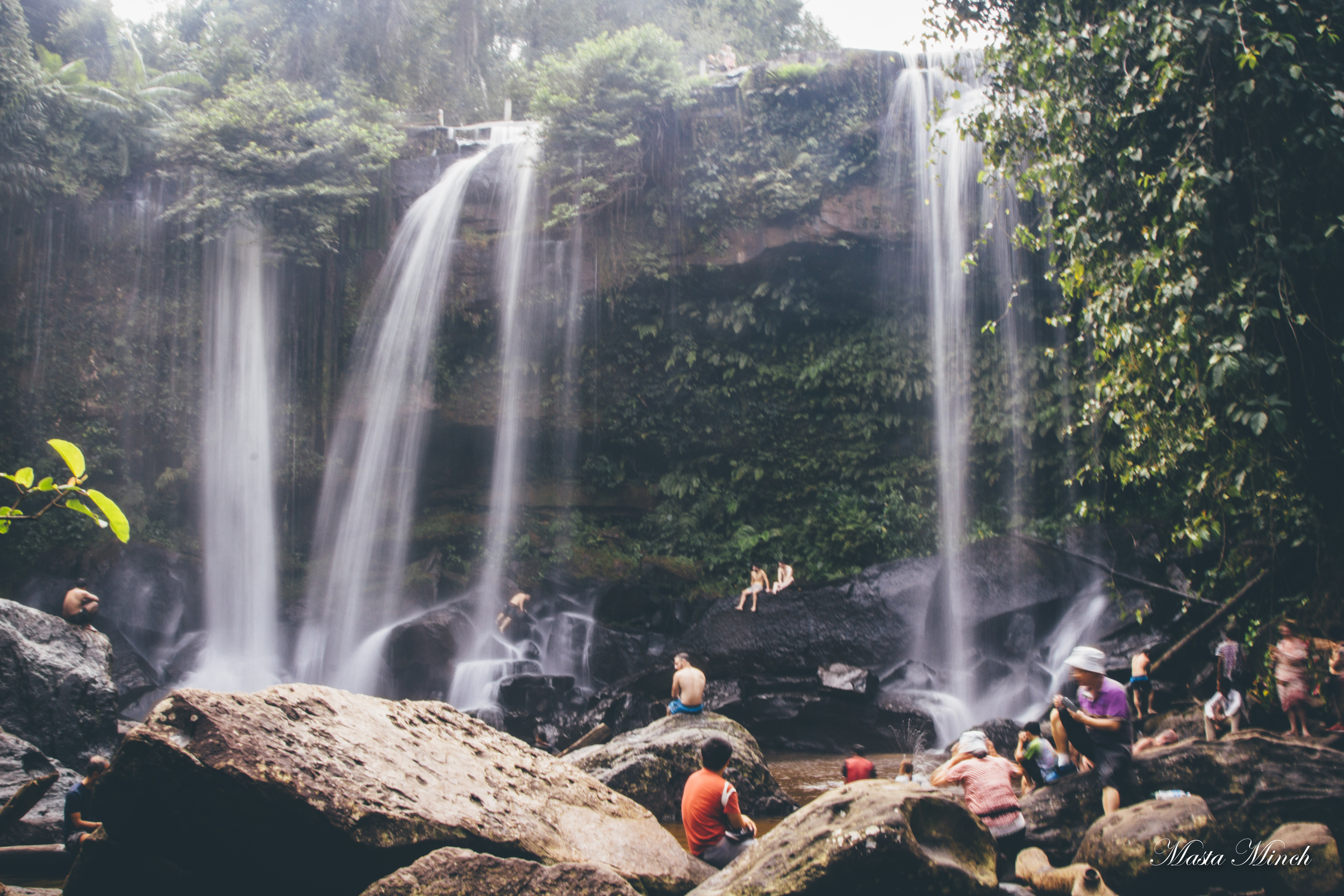 The waterfalls at Phnom Kulen. Quite a nice sight to see from the rest of dry Cambodia