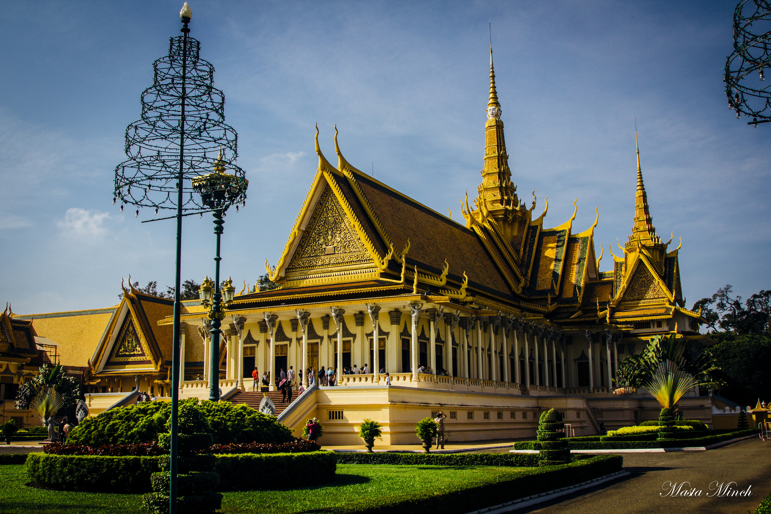 The royal palace of Phnom Pehn. Gold...gold everywhere.
