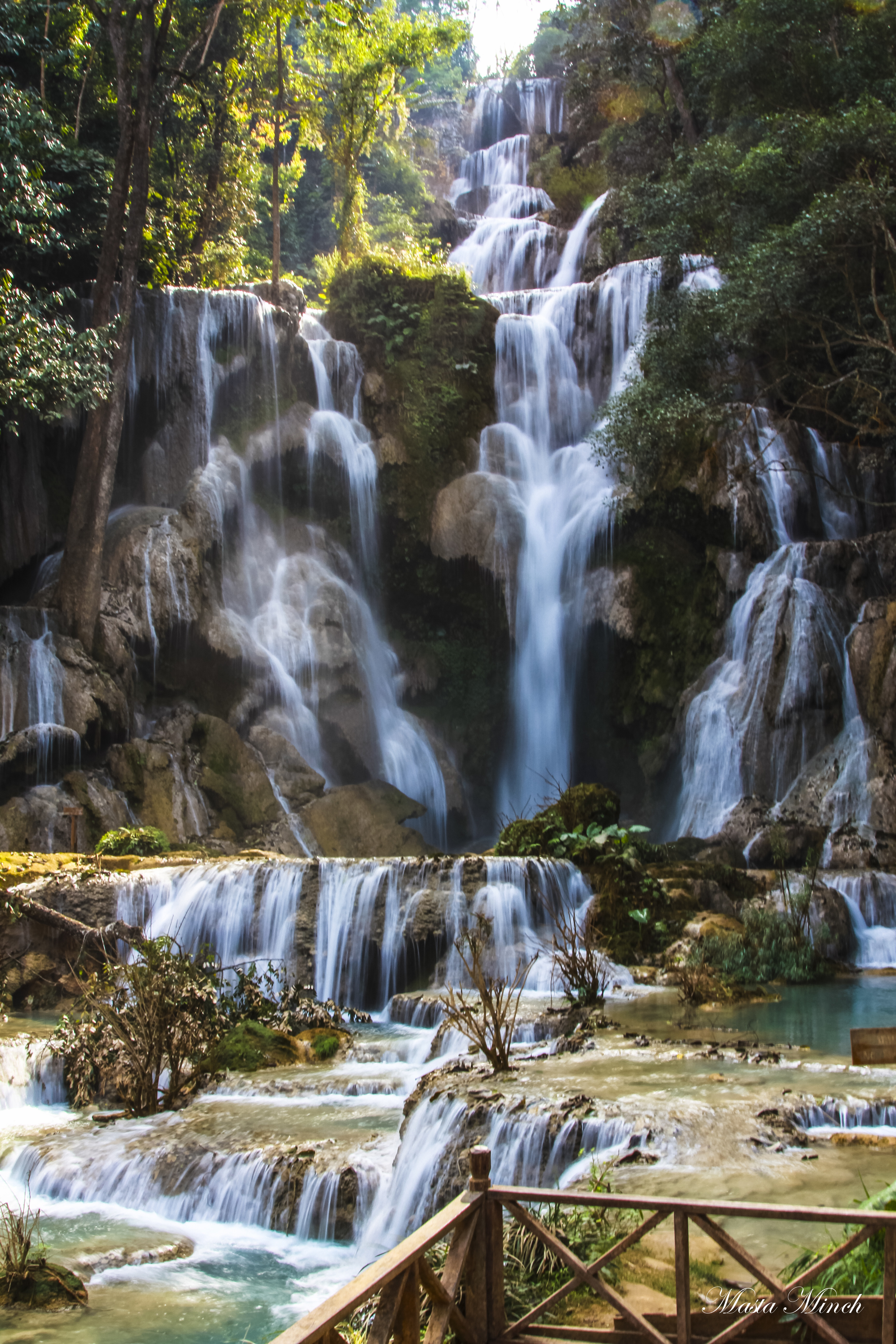 The incredible multi-tiered Kuang Si Waterfalls