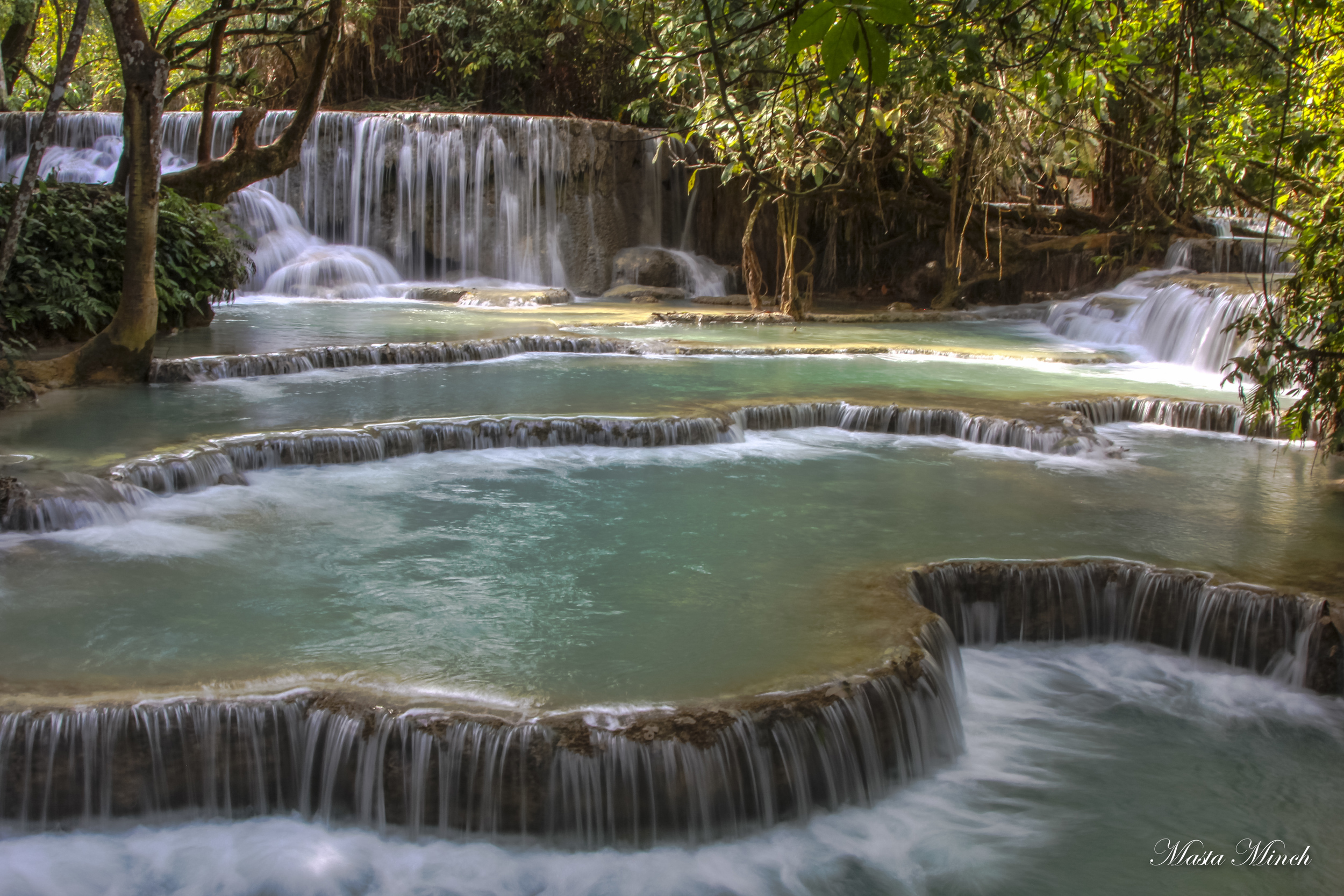 The amazing Kuang Si waterfalls