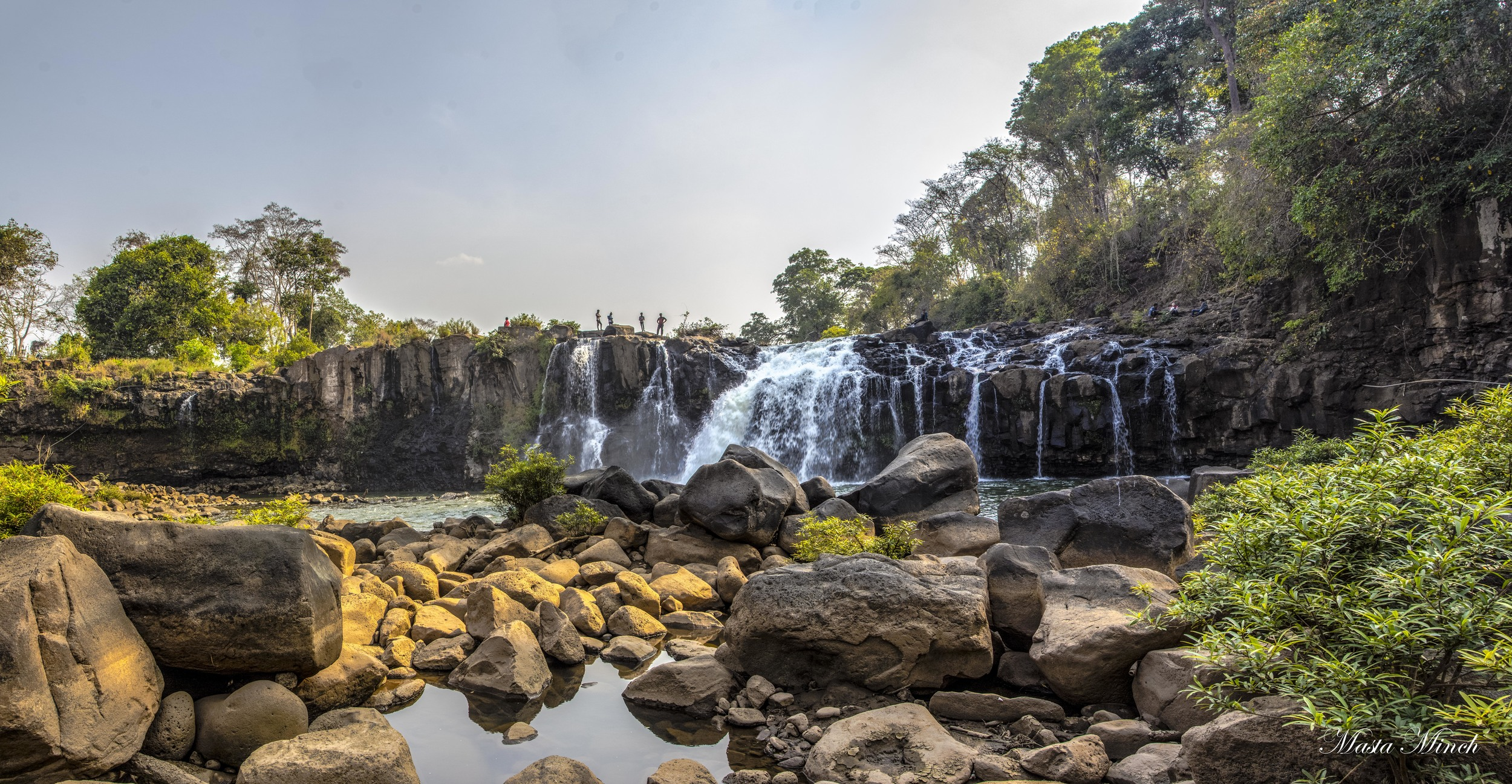 A pano of the Tad Lo waterfalls on part of the motorcycle loop.
