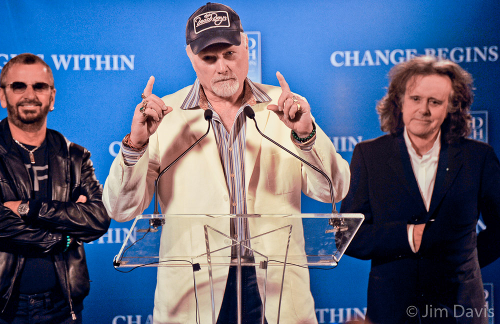 Mike Love, Ringo Starr and Donovan, Change Begins Within, New York