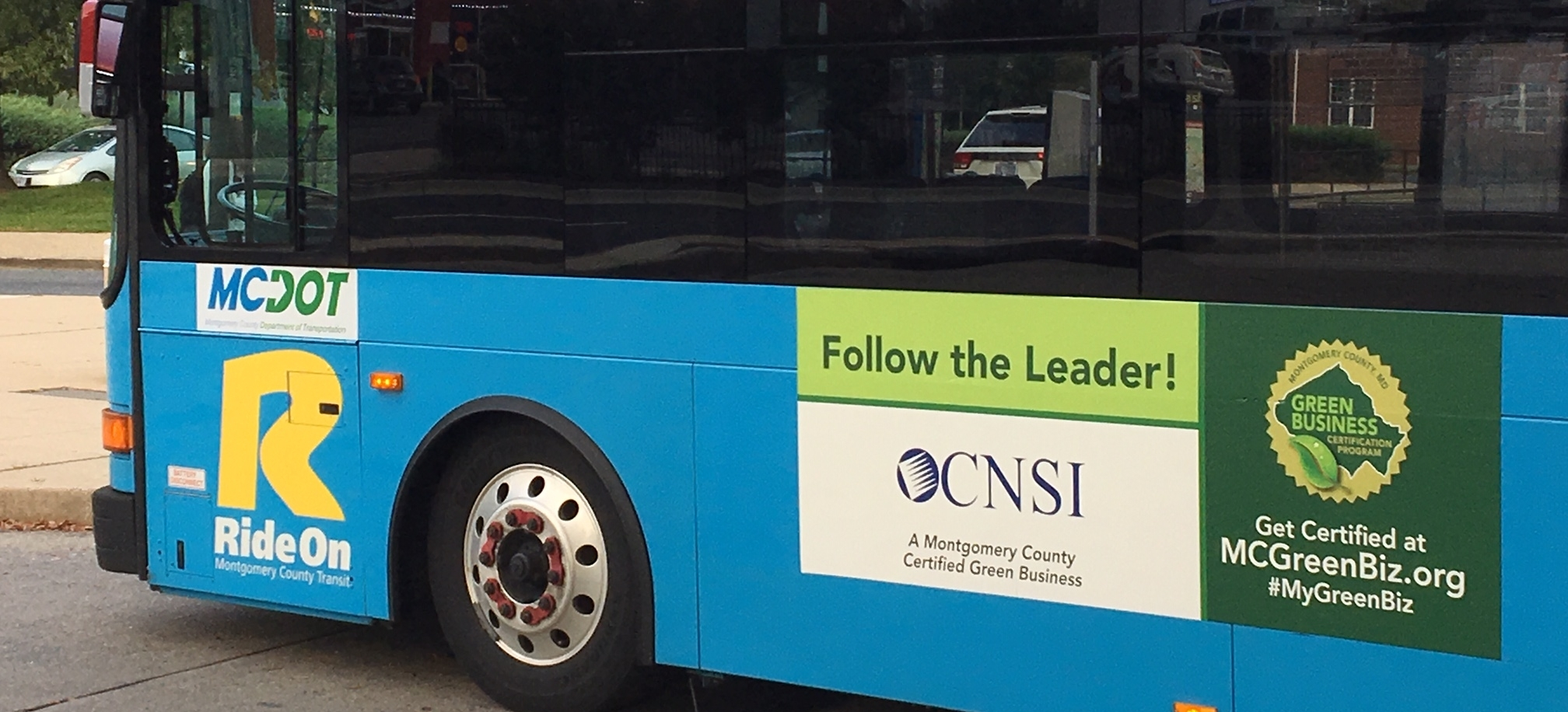 Certified Businesses can receive their logo on the side of a bus!