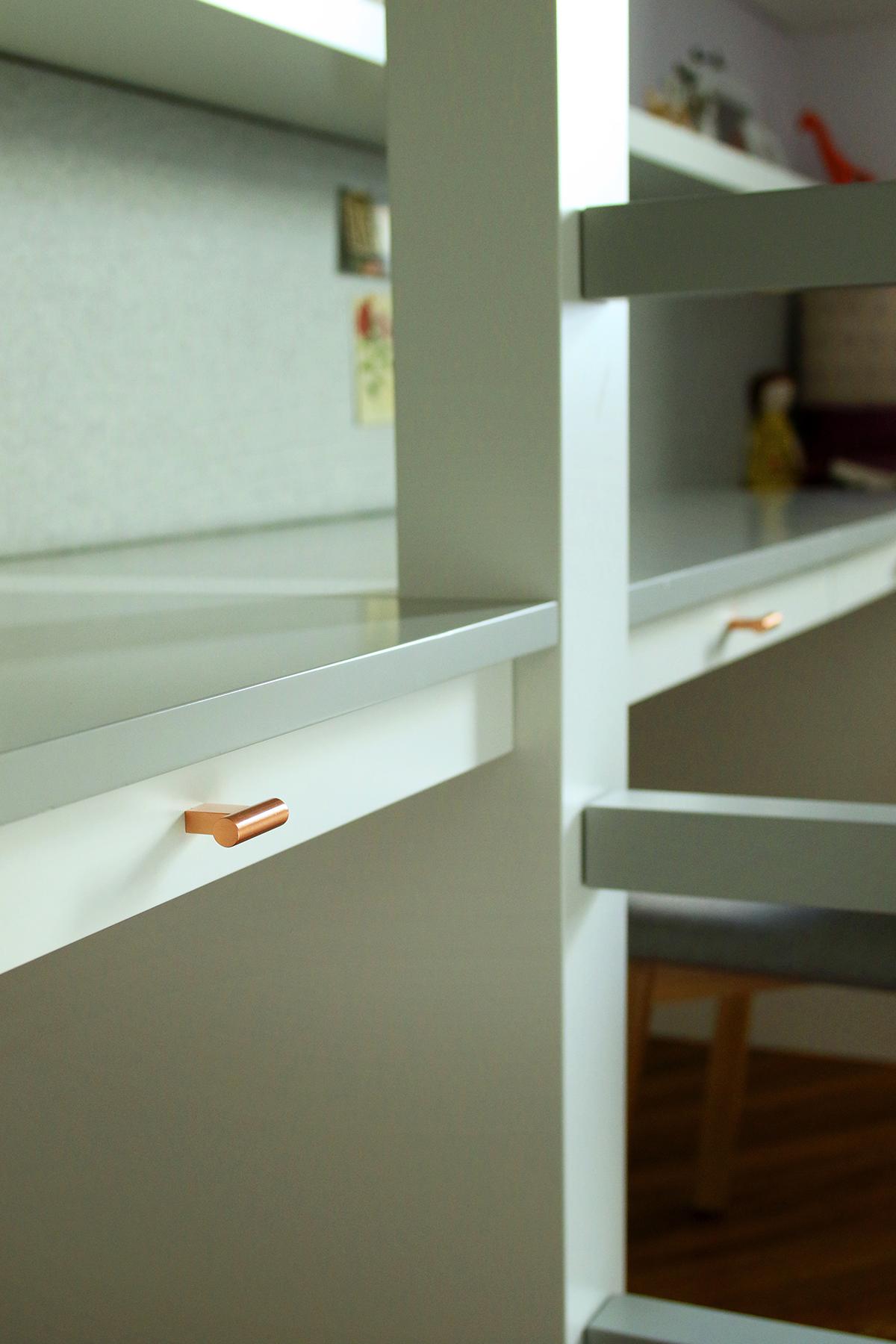 Bunk Bed & Desk design by  WISHBONE WOODWORKING