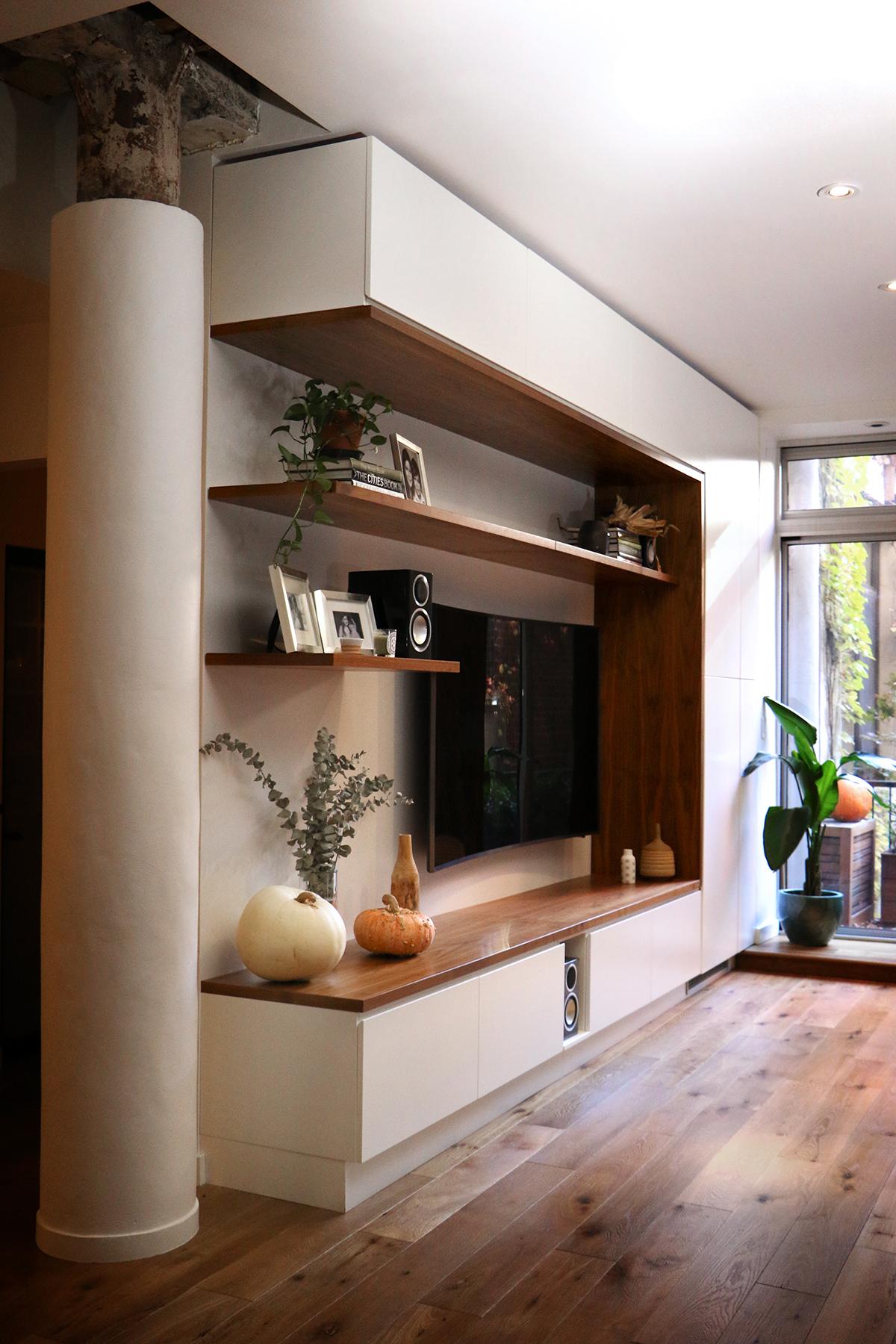 Media Cabinet design by  WISHBONE WOODWORKING