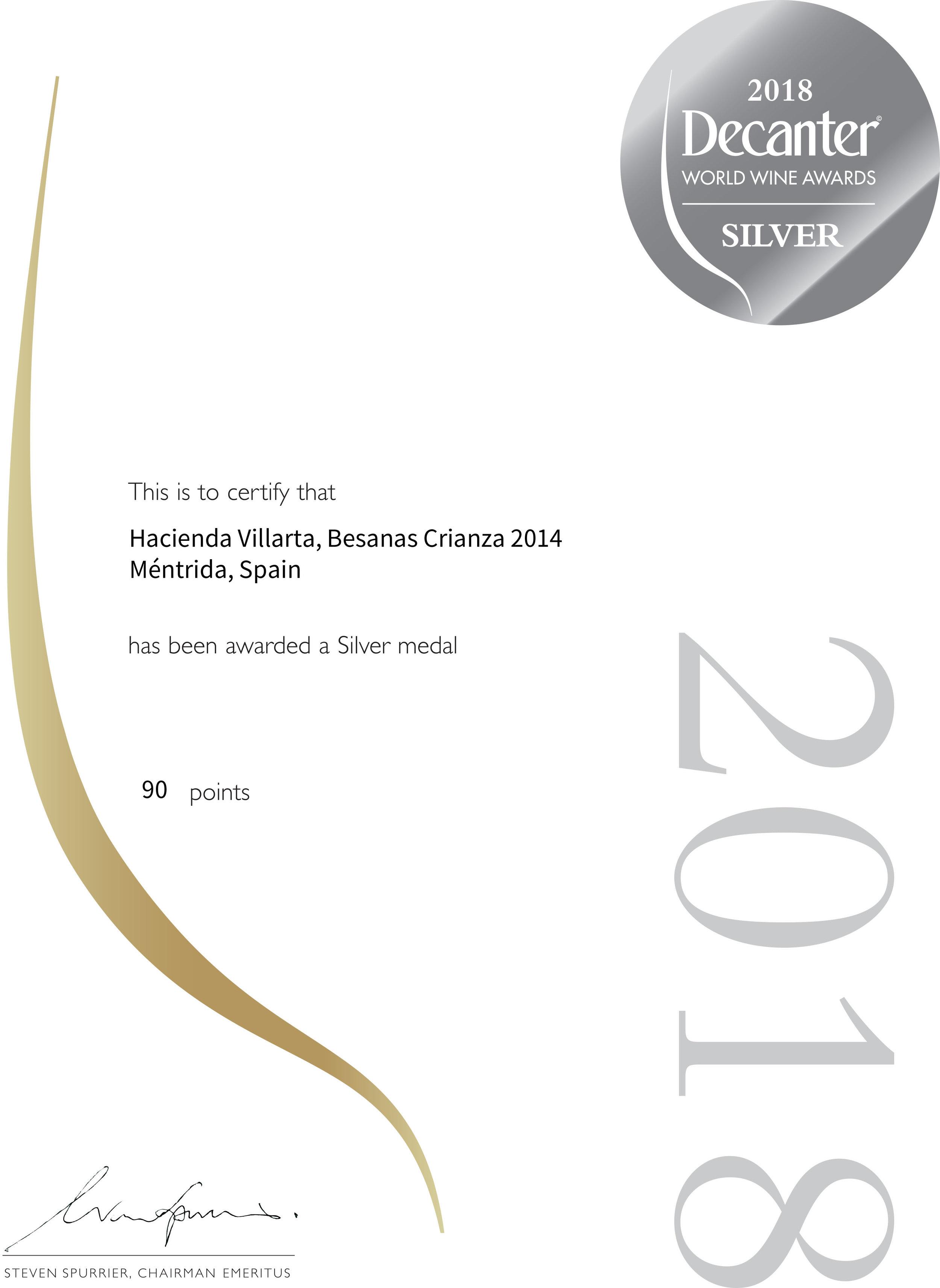 Certificate_SILVER BESANAS CRIANZA 2014 -DWWA2018.jpg