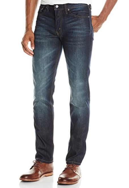 Nice pair of Denim: - You should know Dad's jean size. Most Dads aren't going to drop money on good denim.Get him something just a little tighter that he normally wears, but make sure there is a little stretch in those jeans so he can still throw a karate kick if he has too.I really like a Levi's 511s or Japanese denim from Banana Republic.