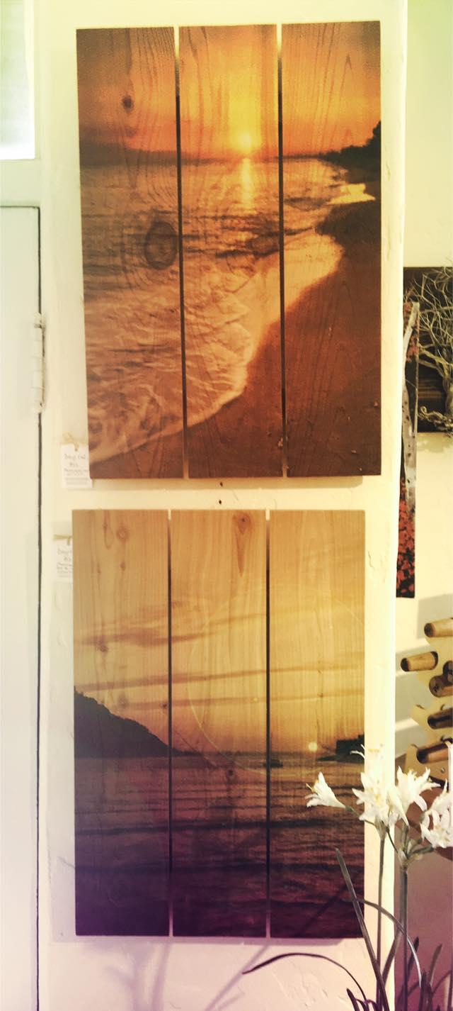 Photograghs printed on wood
