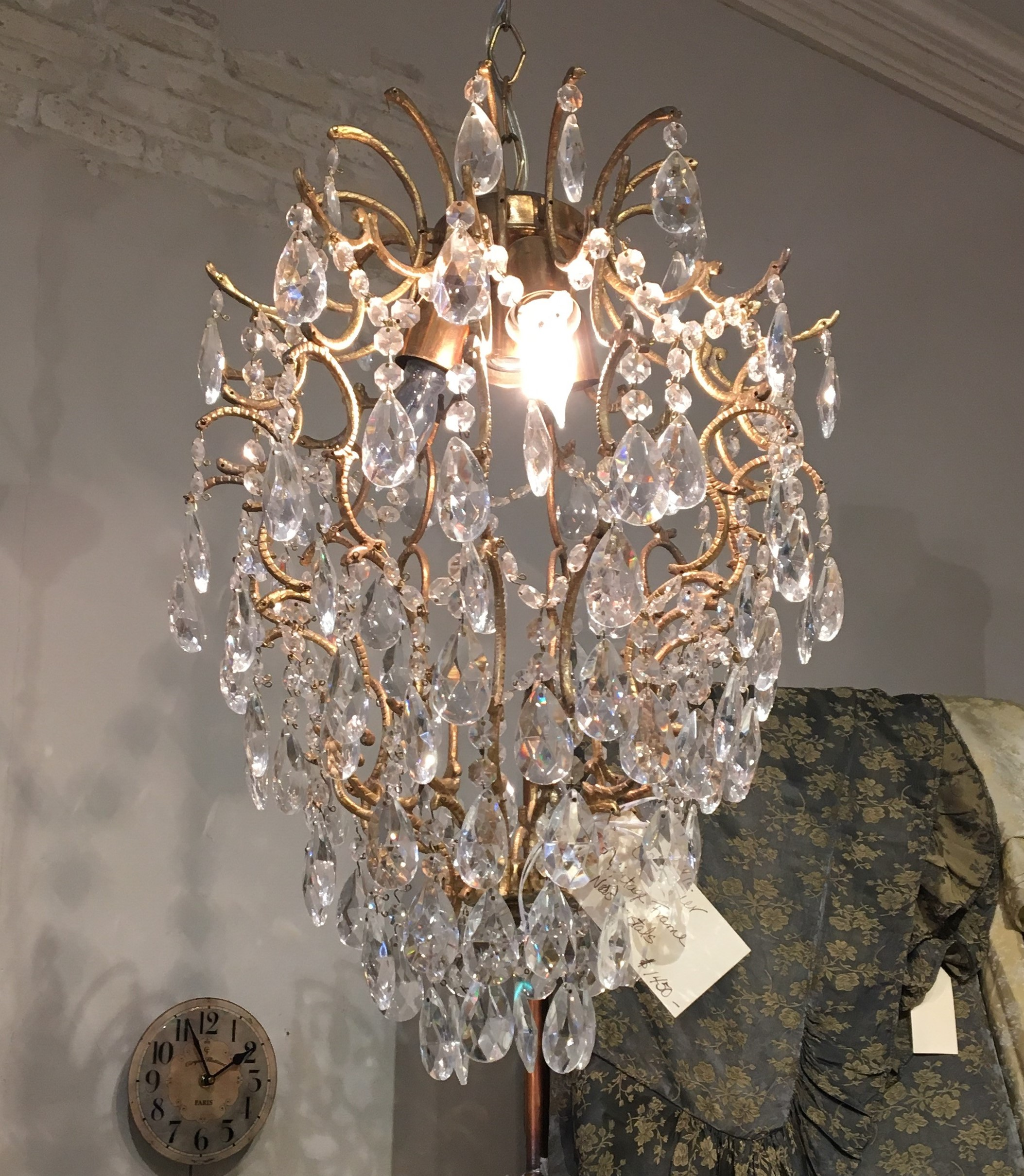 This chandelier would look fabulous in a girls room or small eating area.