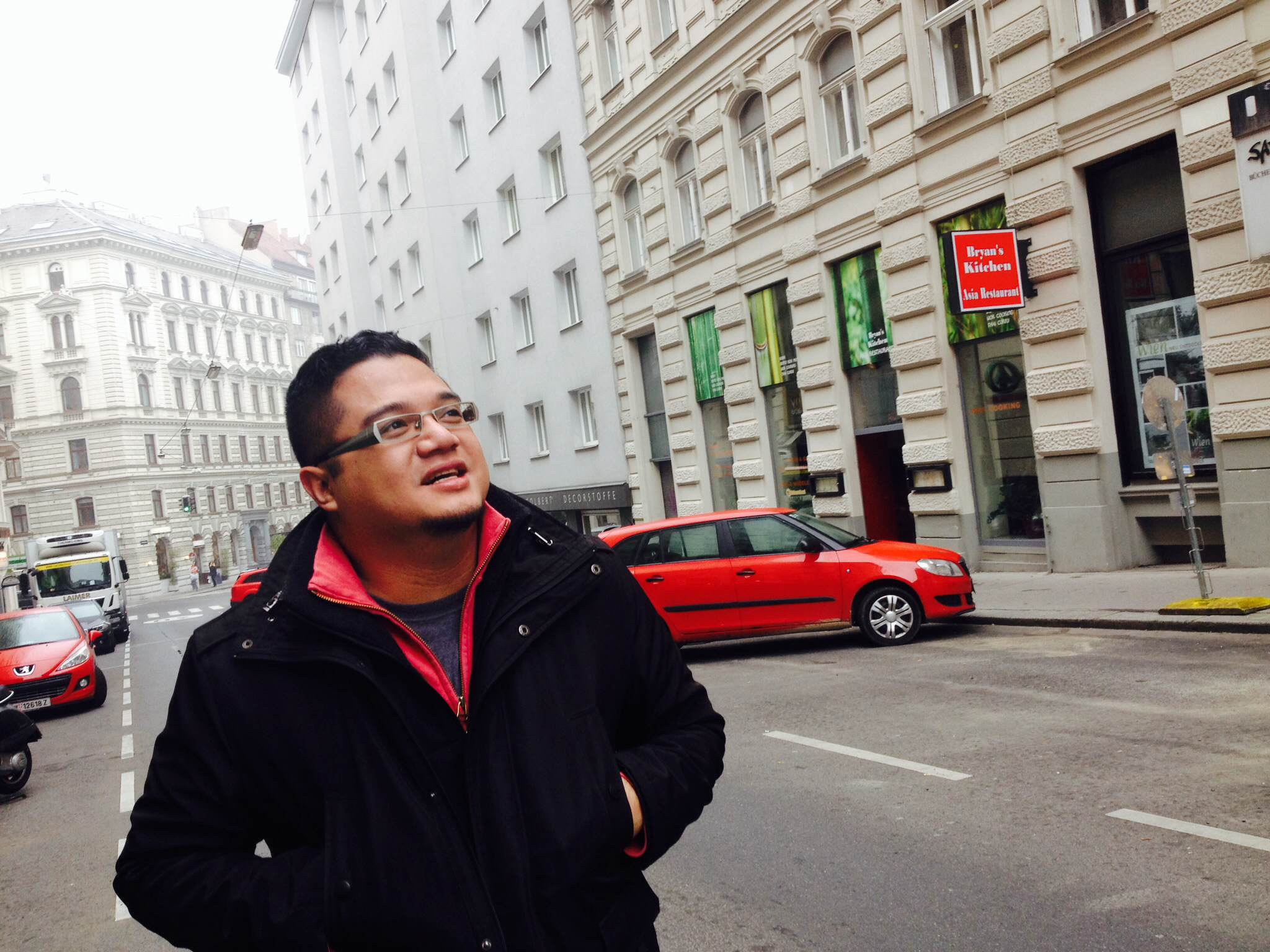 Renjie Butalid in Vienna, Austria.